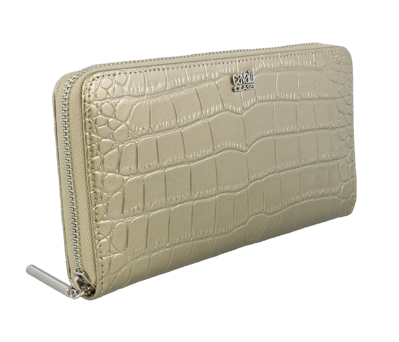 Class Roberto Cavalli London 192 Platinum Wallet On a Chain