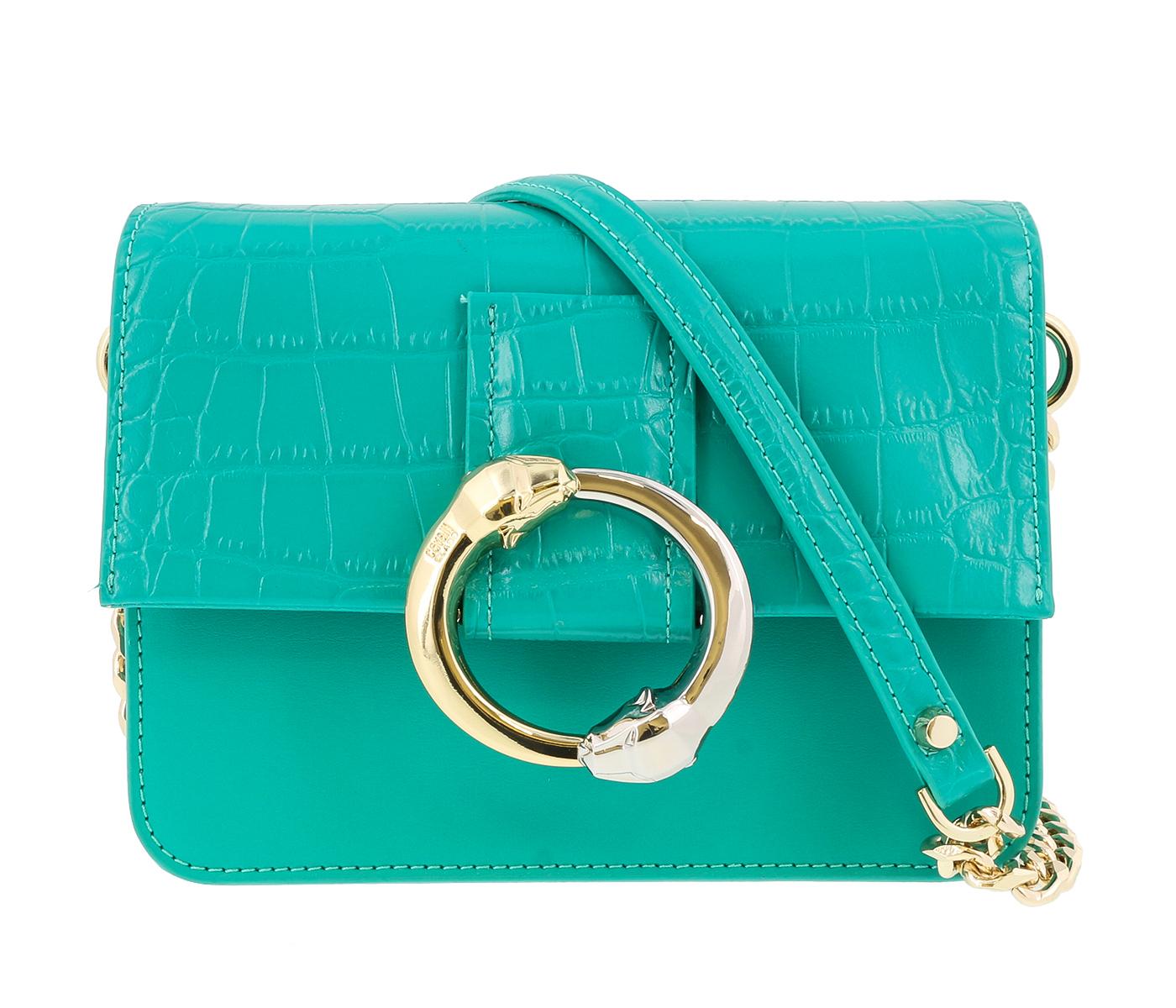 Class Roberto Cavalli Paris 001 Green Small Shoulder Bag