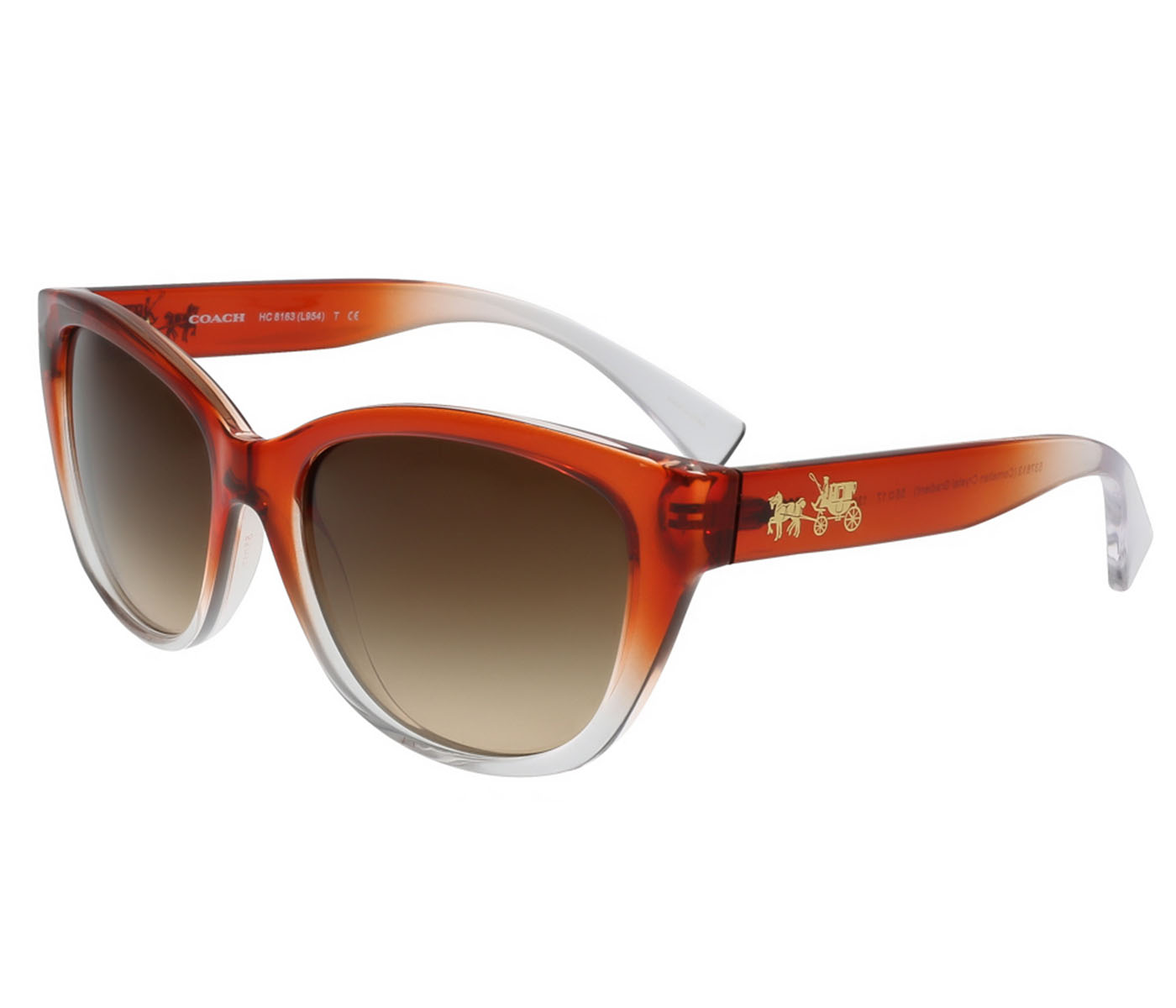 Coach HC8163 537613 Cherry Red Cat Eye Sunglasses
