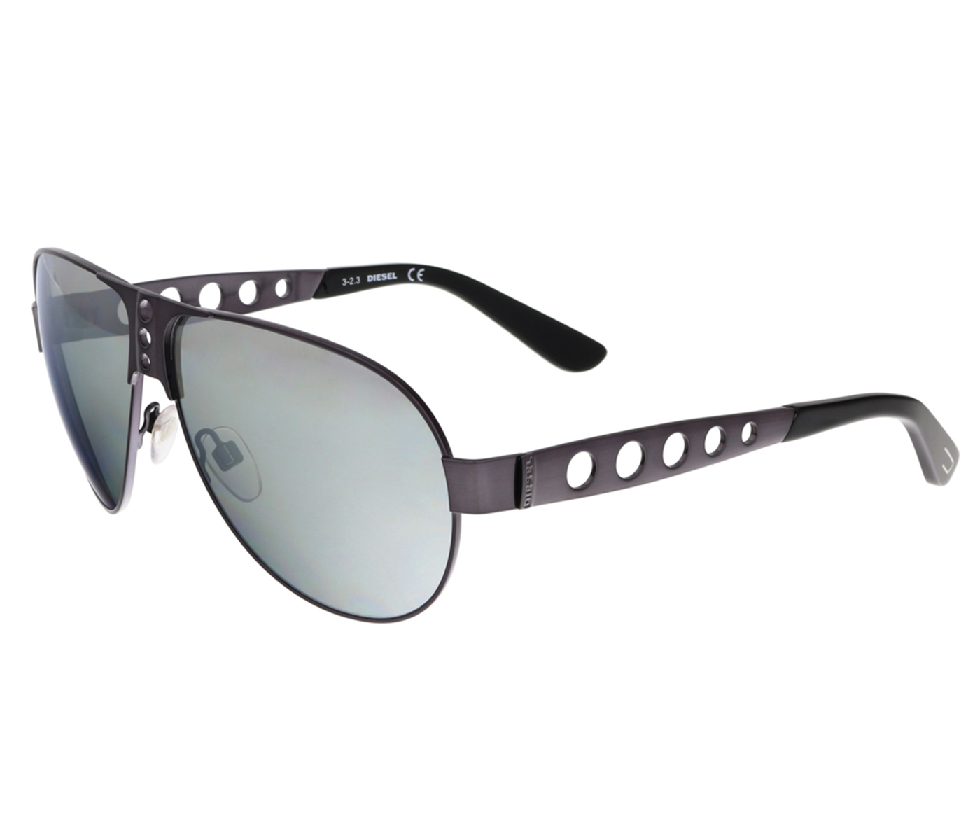 Diesel DL0092 09C Gunmetal Aviator Sunglasses