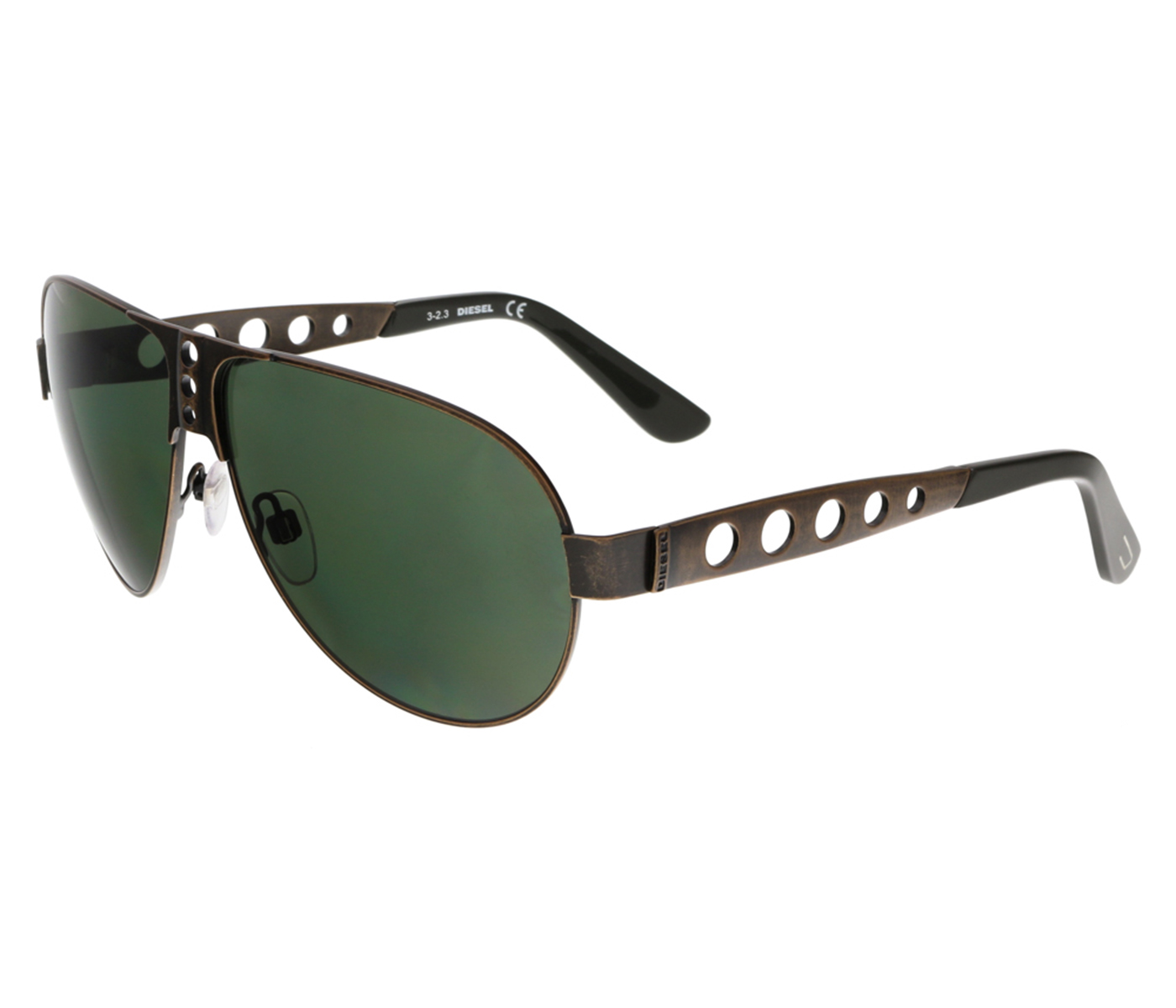 Diesel DL0092 38N Bronze Aviator Sunglasses