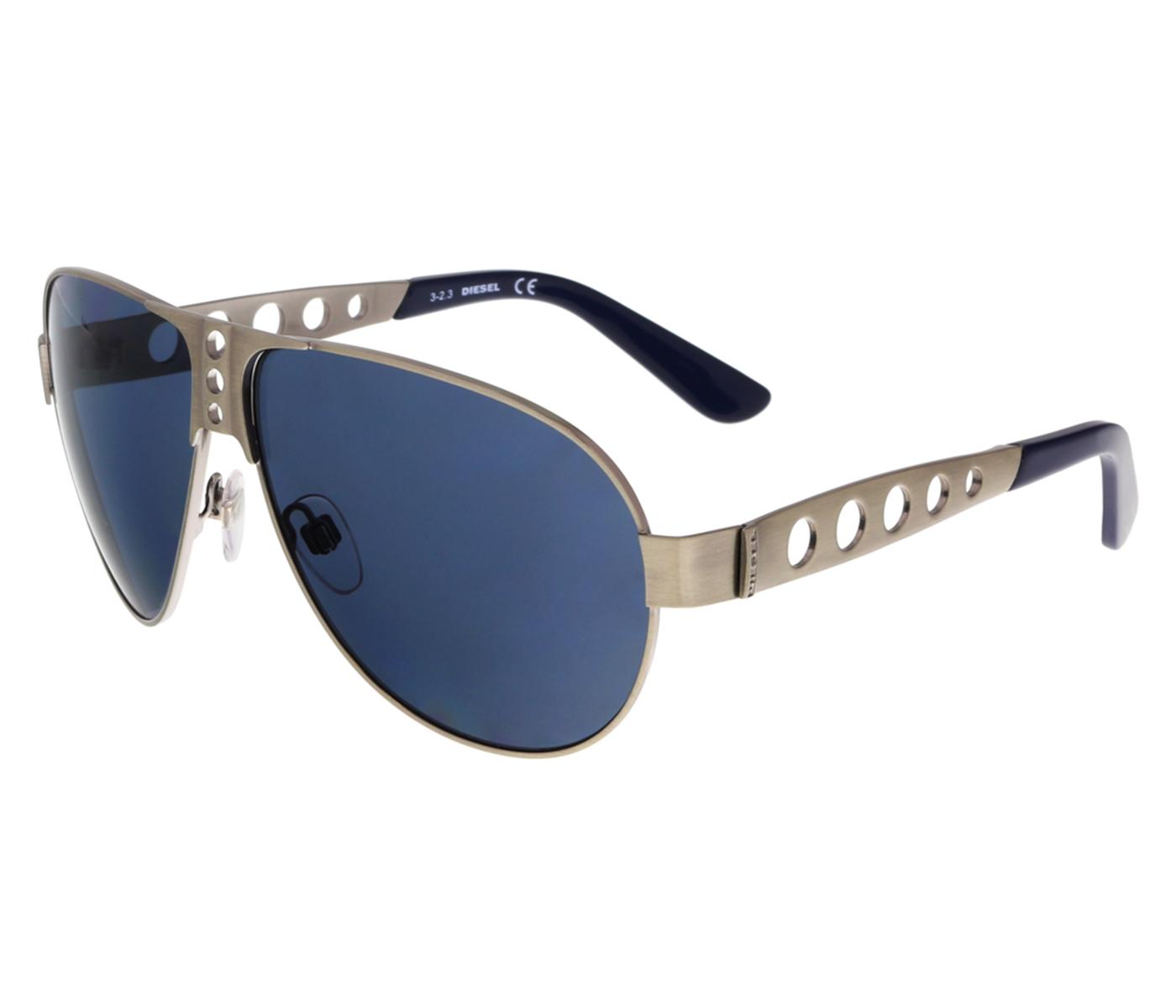 Diesel DL0092 15V Silver Aviator Sunglasses