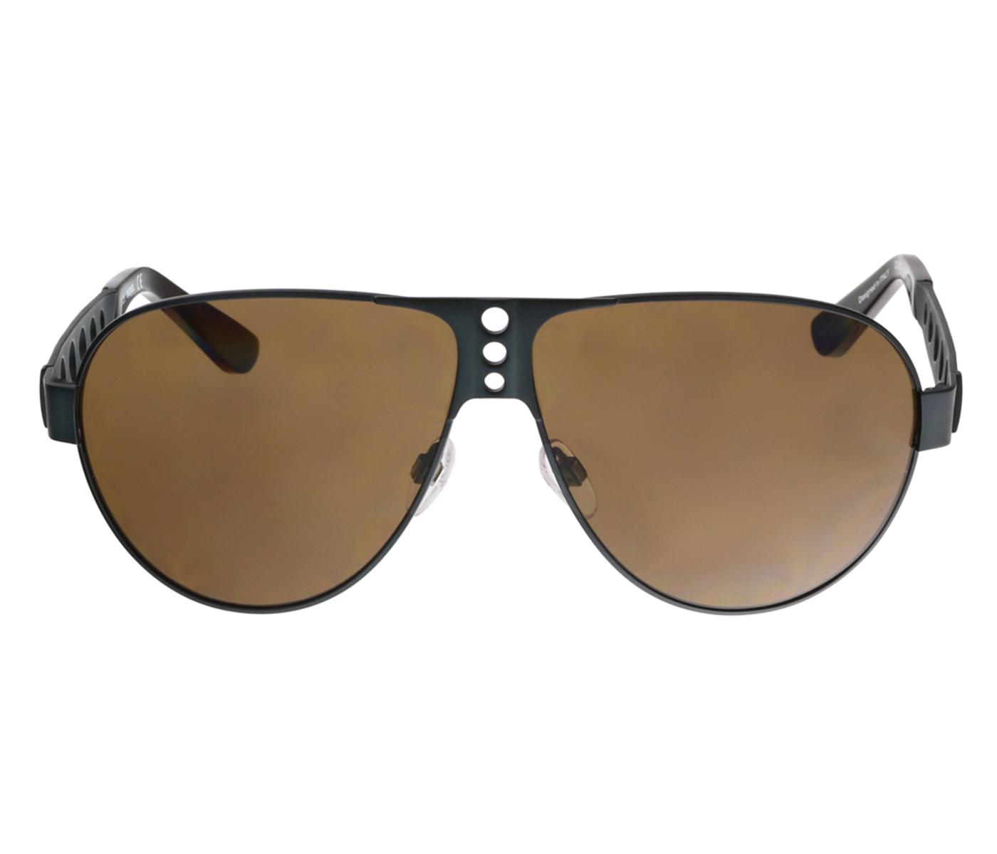 Diesel DL0092 92E Matte Black Aviator Sunglasses