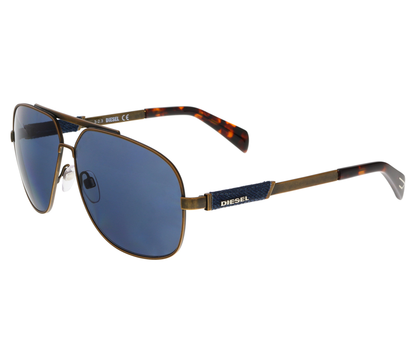 Diesel DL0088 38V Bronze Aviator Sunglasses