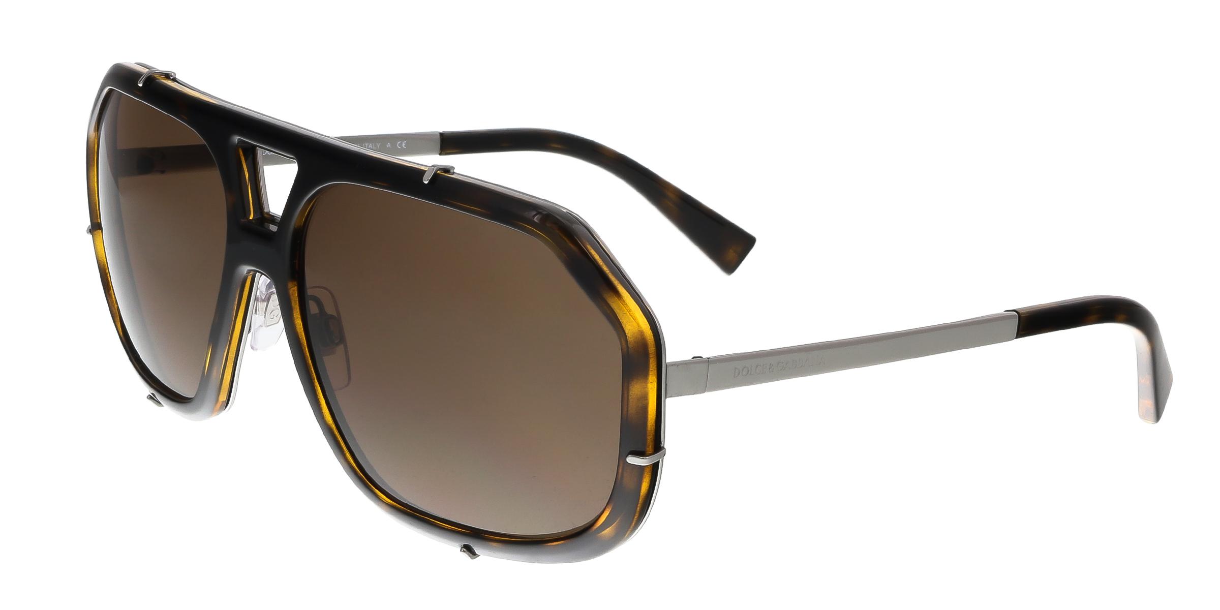 Dolce & Gabbana DG2167 04/73 Havana Aviator Sunglasses