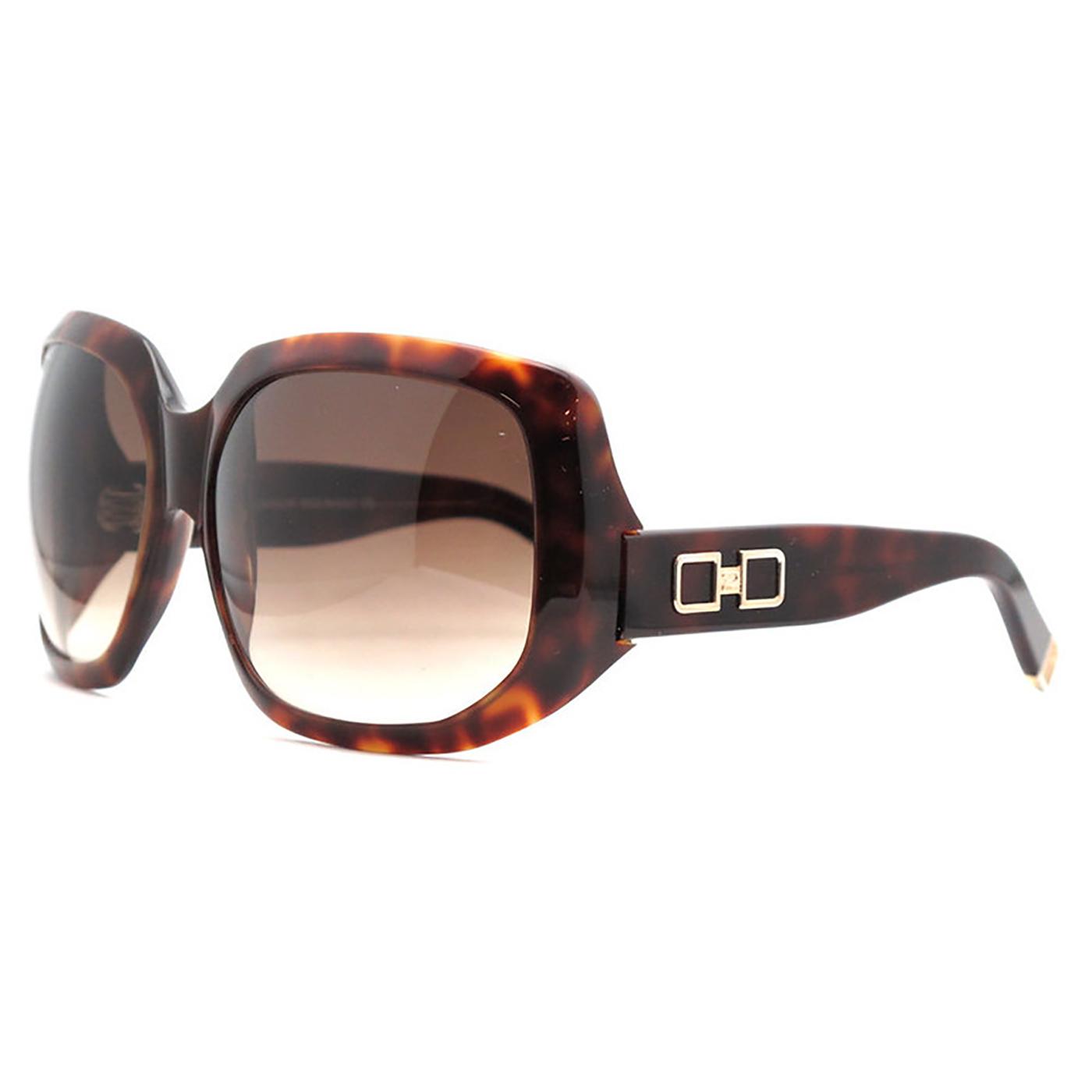 DSquared DQ 0020/S 52F Dark Havana Oversized Full Rim Sunglasses
