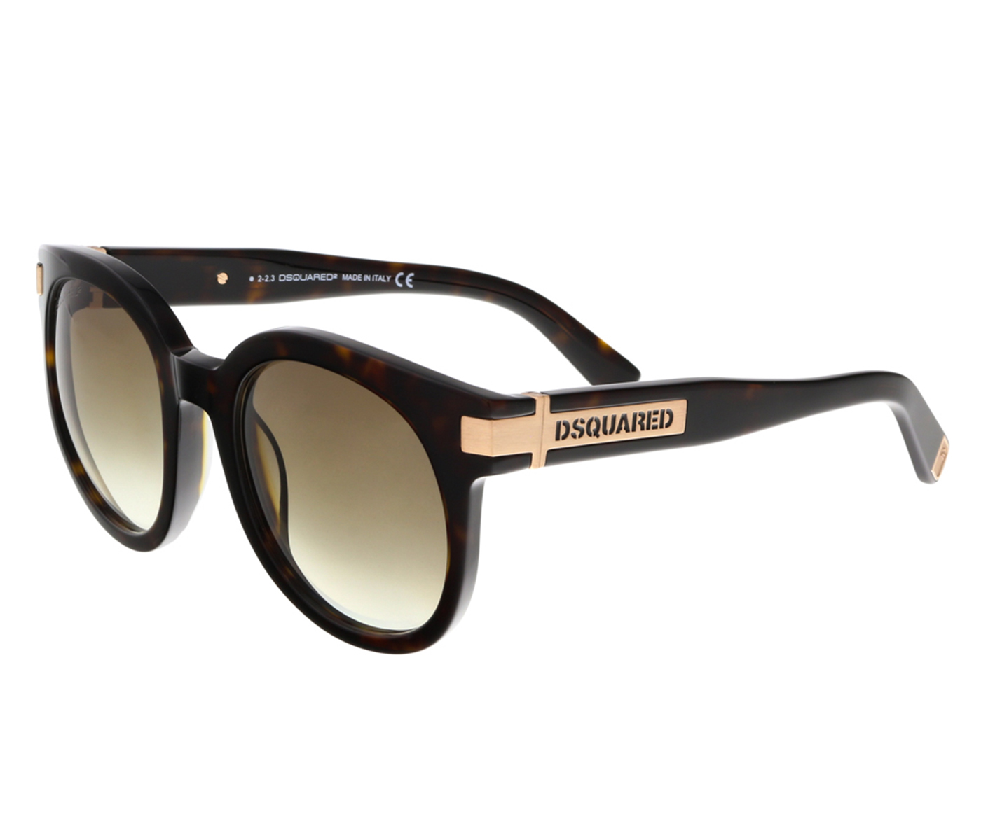 Dsquared DQ0134/S 52P Dark Havana Round Sunglasses