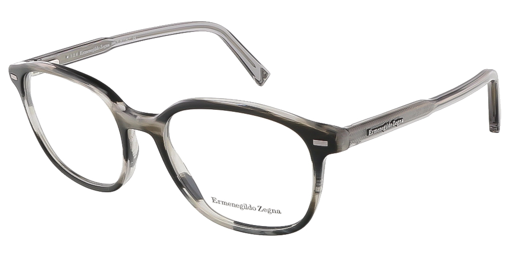 Ermenegildo Zegna EZ5007/V 064 Colorful Horn Brown Wayfarer Opticals