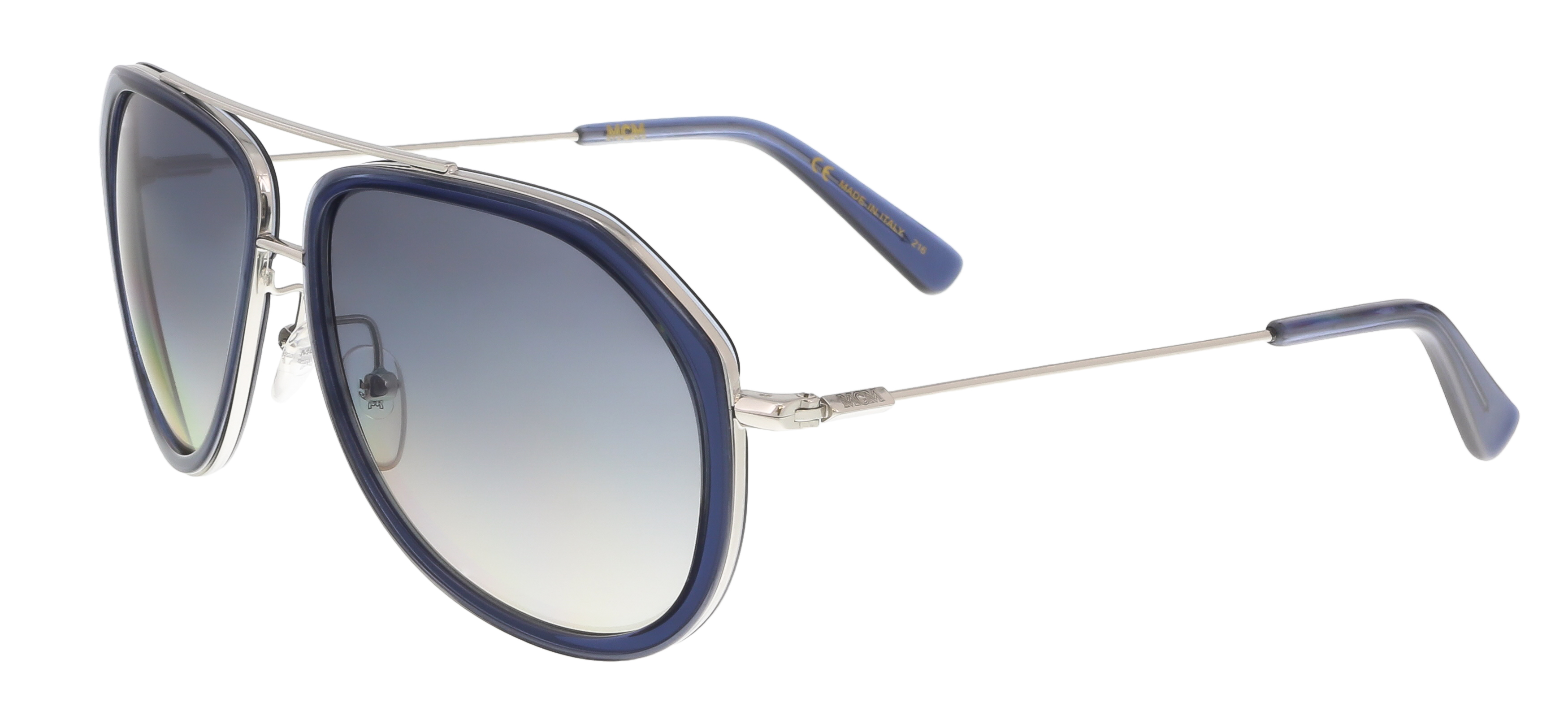 MCM613S 424 Blue Aviator Feline Sunglasses