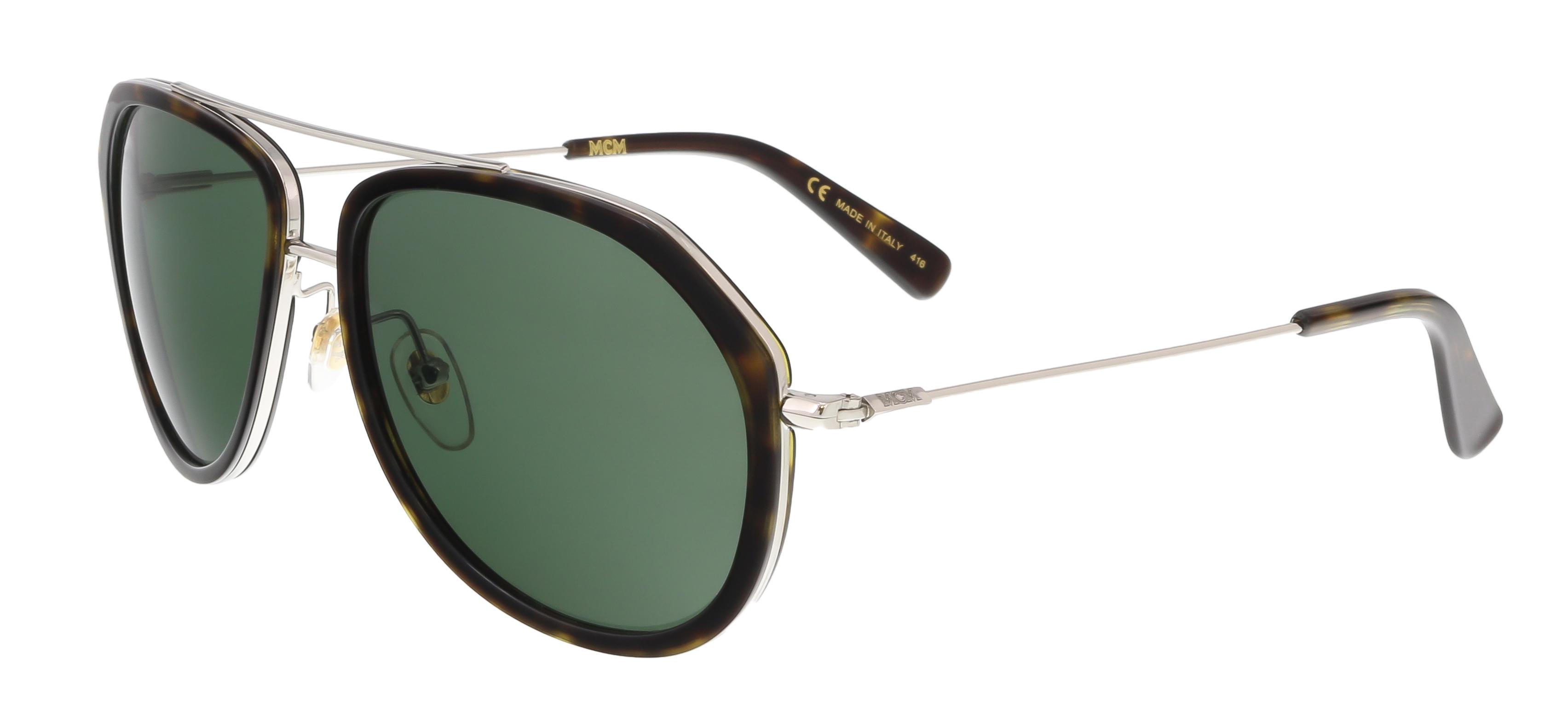 MCM613S 214 Havana Aviator Feline Sunglasses