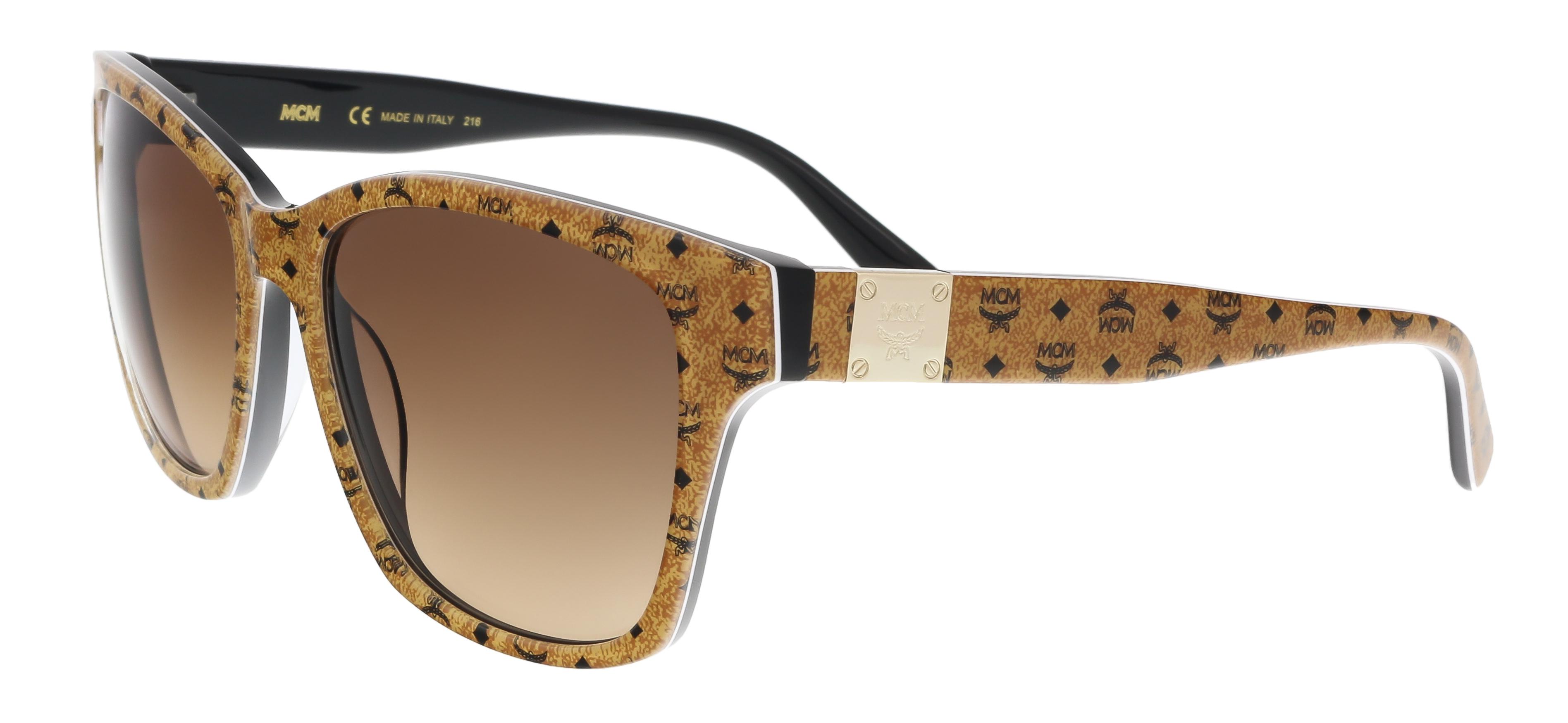 MCM600S 208 Brown Visettos Wayfarer Feline Sunglasses
