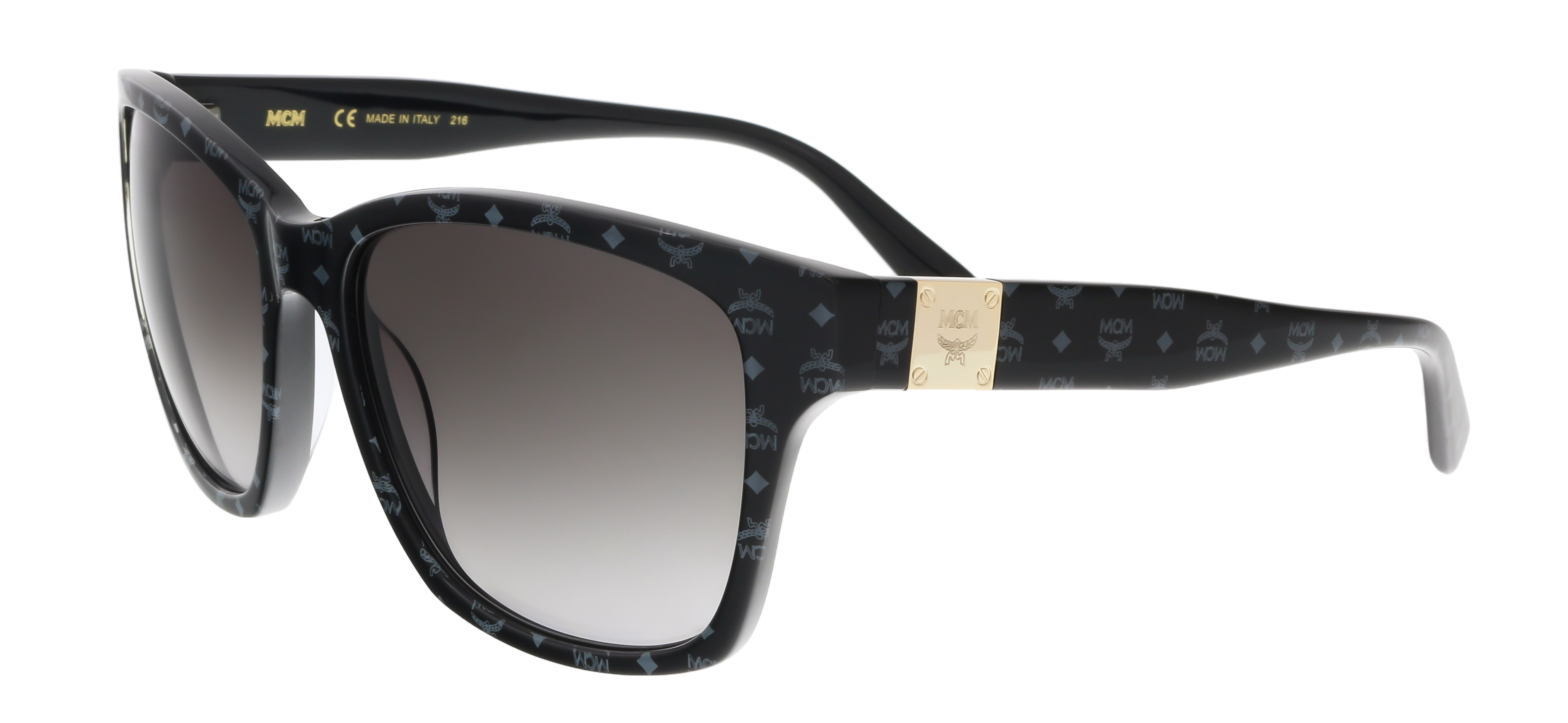 MCM600S 003 Black Visettos Wayfarer Feline Sunglasses