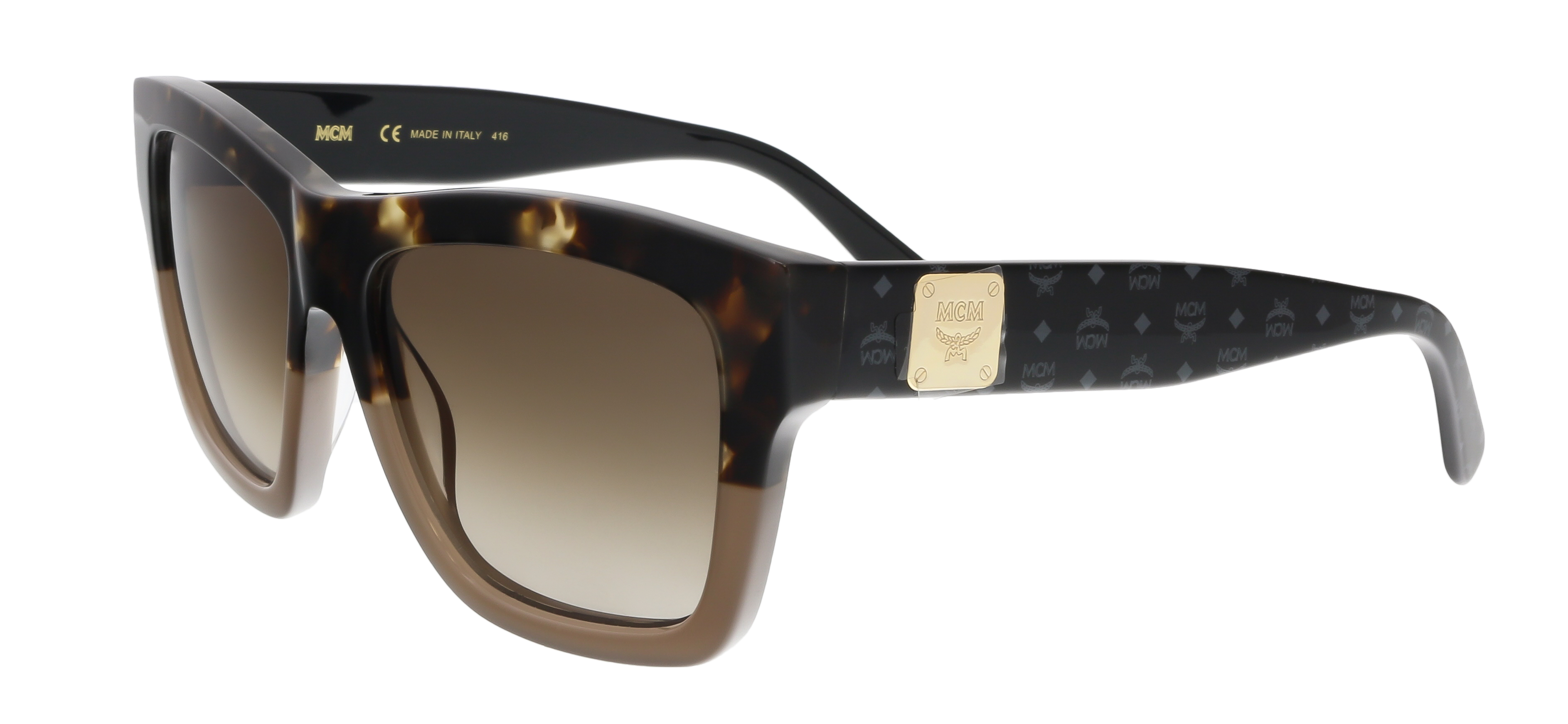 MCM607S 217 Tortoise-Turtle Dove Square Feline Sunglasses