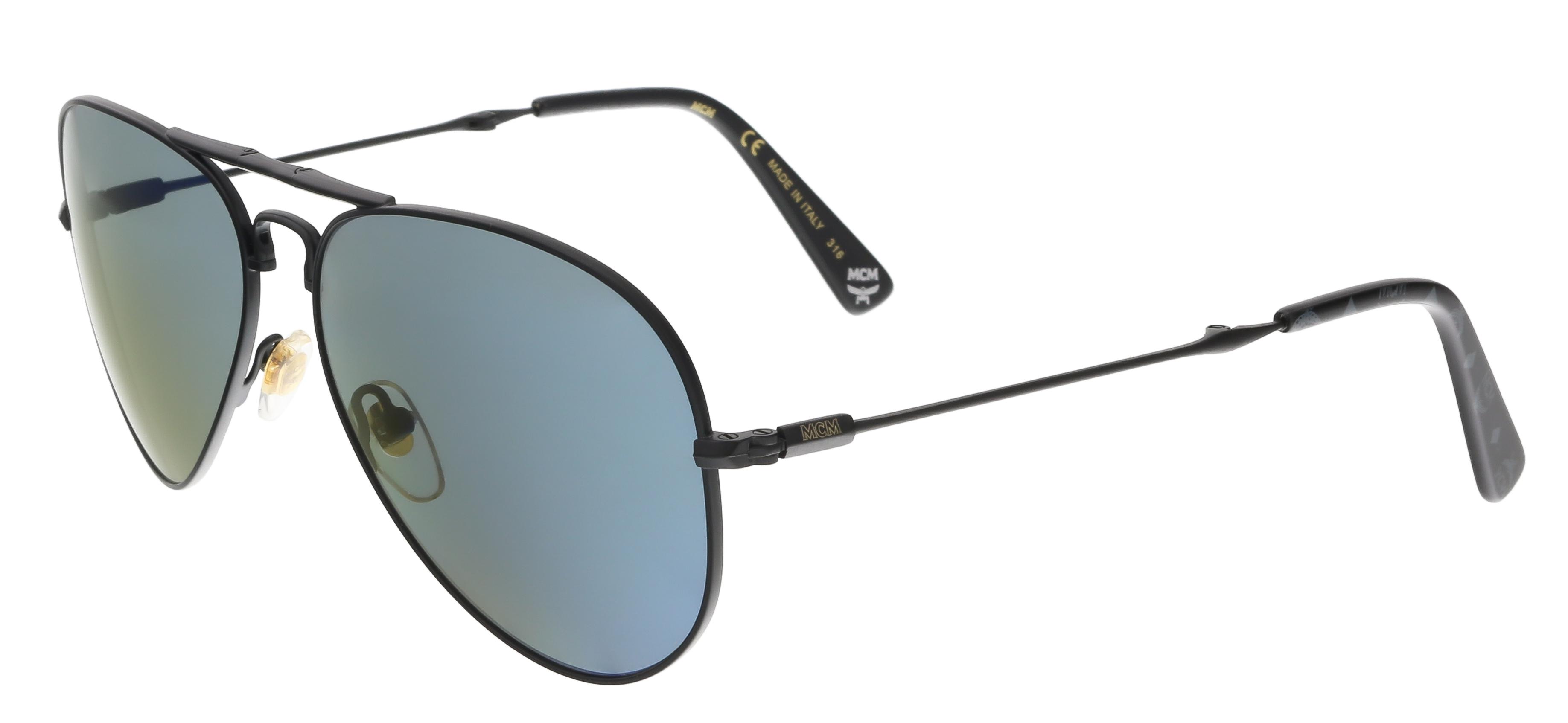 MCM101S 002 Matt Black Aviator Feline Sunglasses