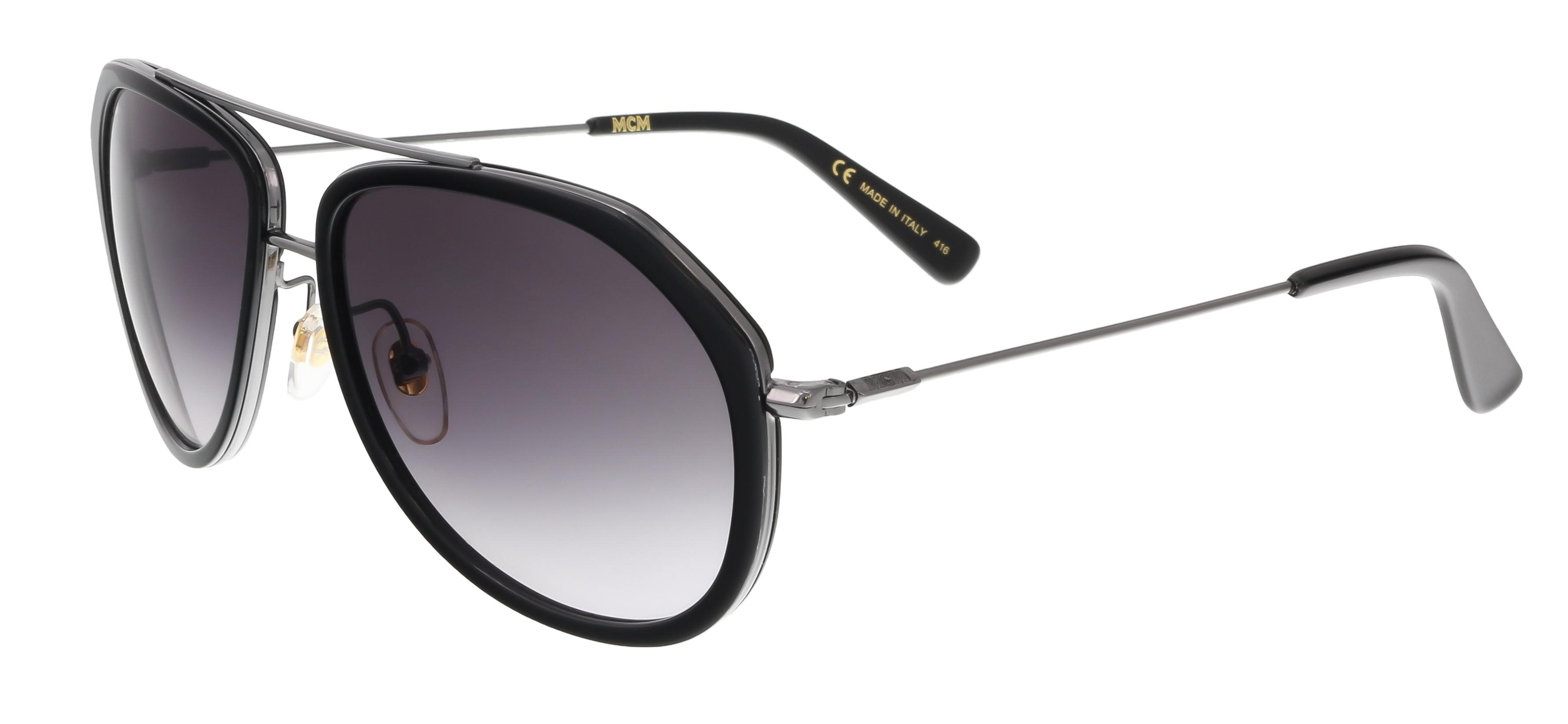 MCM613S 001 Black Aviator Feline Sunglasses