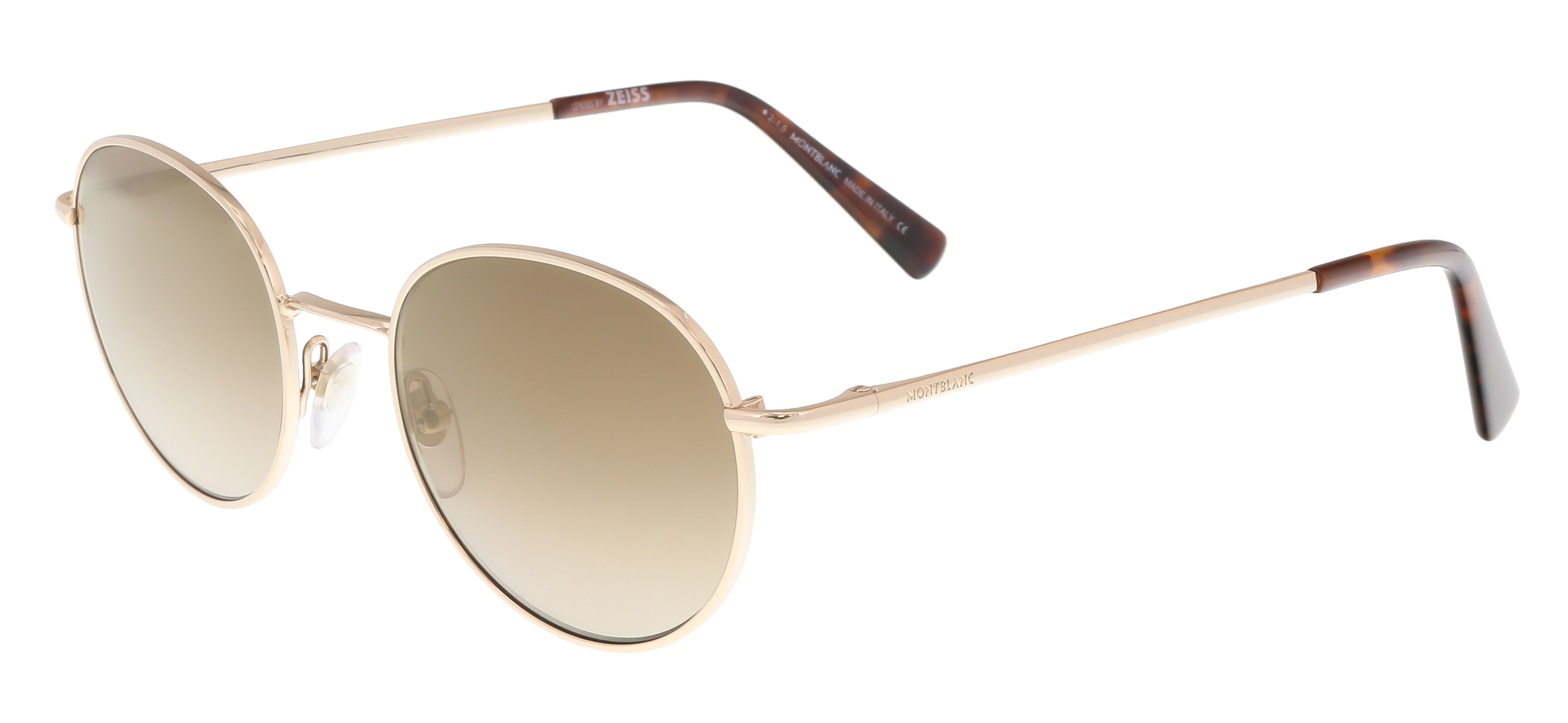 MB550S 16N Gold Round Feline Sunglasses