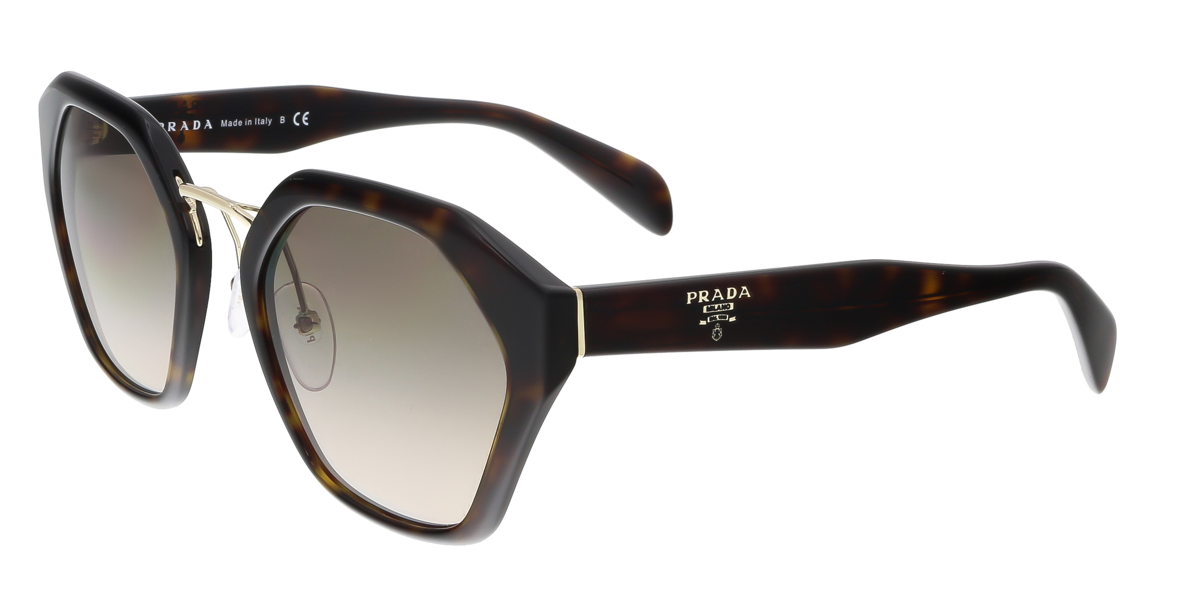 Prada PR 04TS 2AU3D0 Brown Square Sunglasses