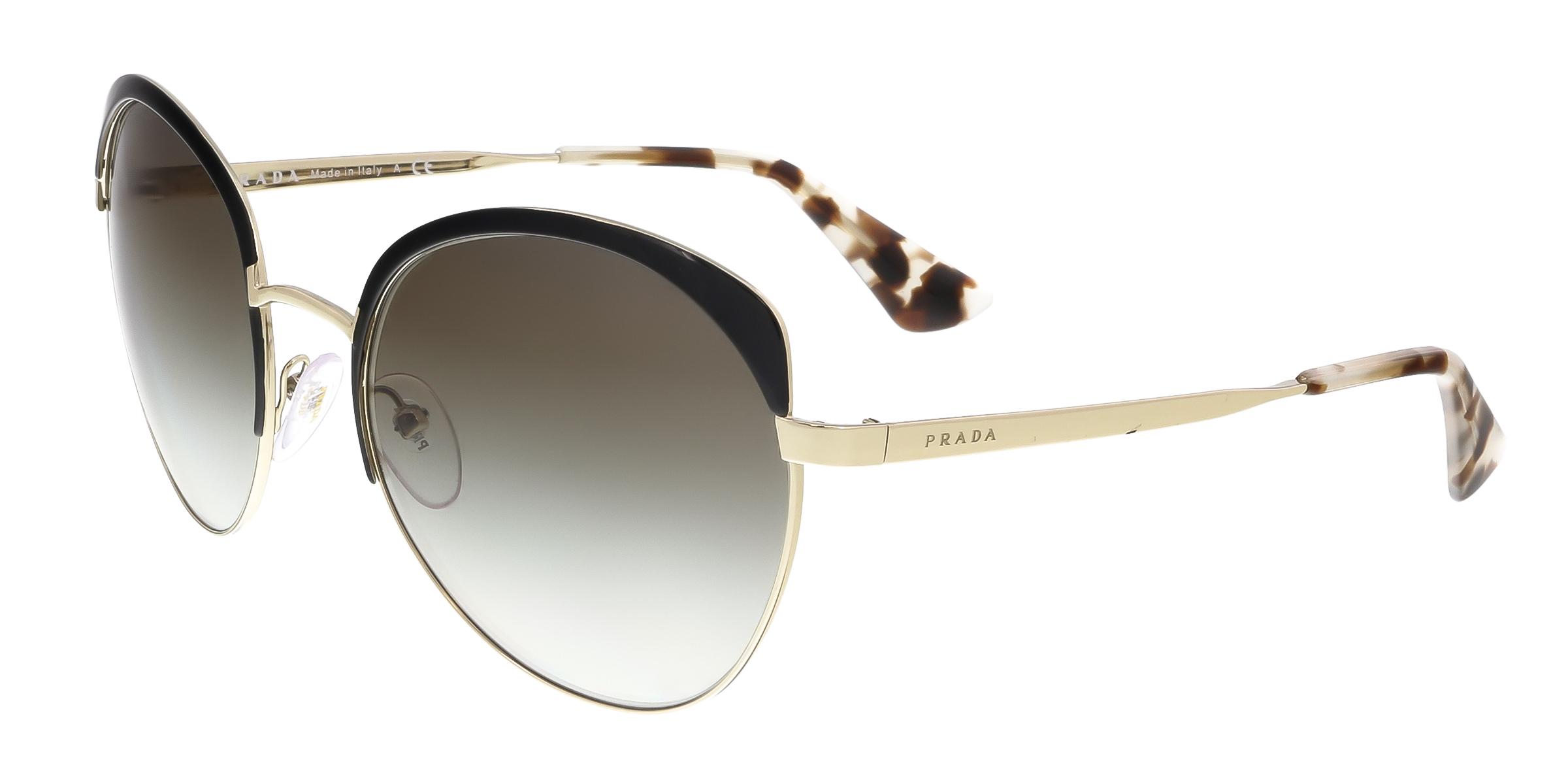 Prada PR 54SS QE30A7 Black Square Sunglasses