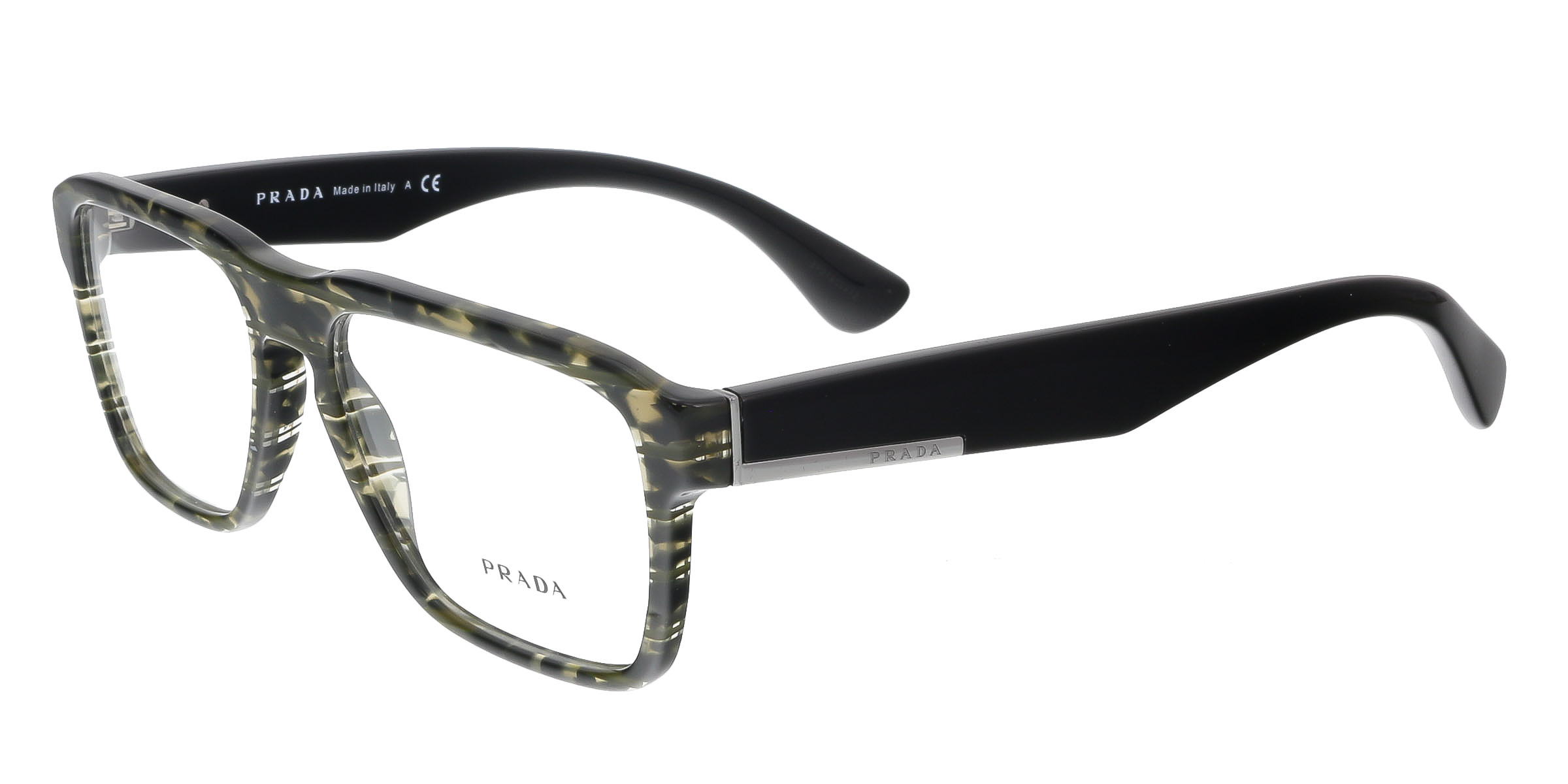 Prada PR04SV UBE 101 Black Tortoise Rectangle Optical Frames