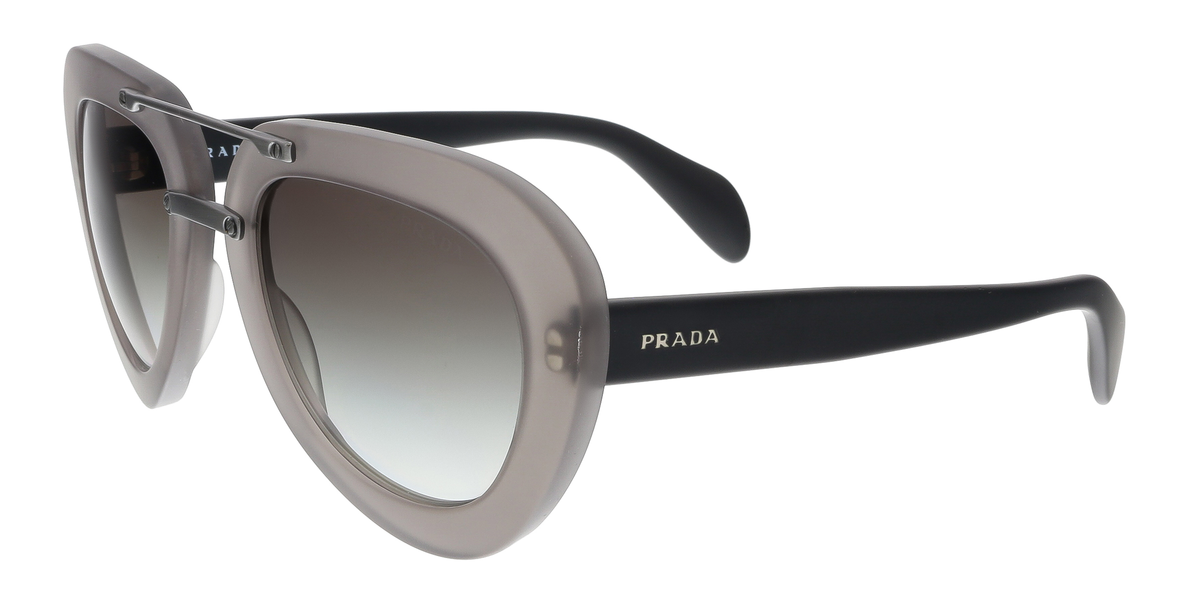 Prada PR28RS UBV0A7 Grey Aviator Sunglasses