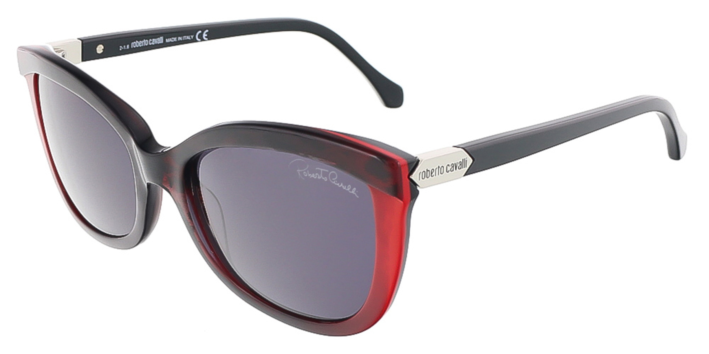 Roberto Cavalli RC788S/S 68A ACRUX Black/Red Butterfly sunglasses