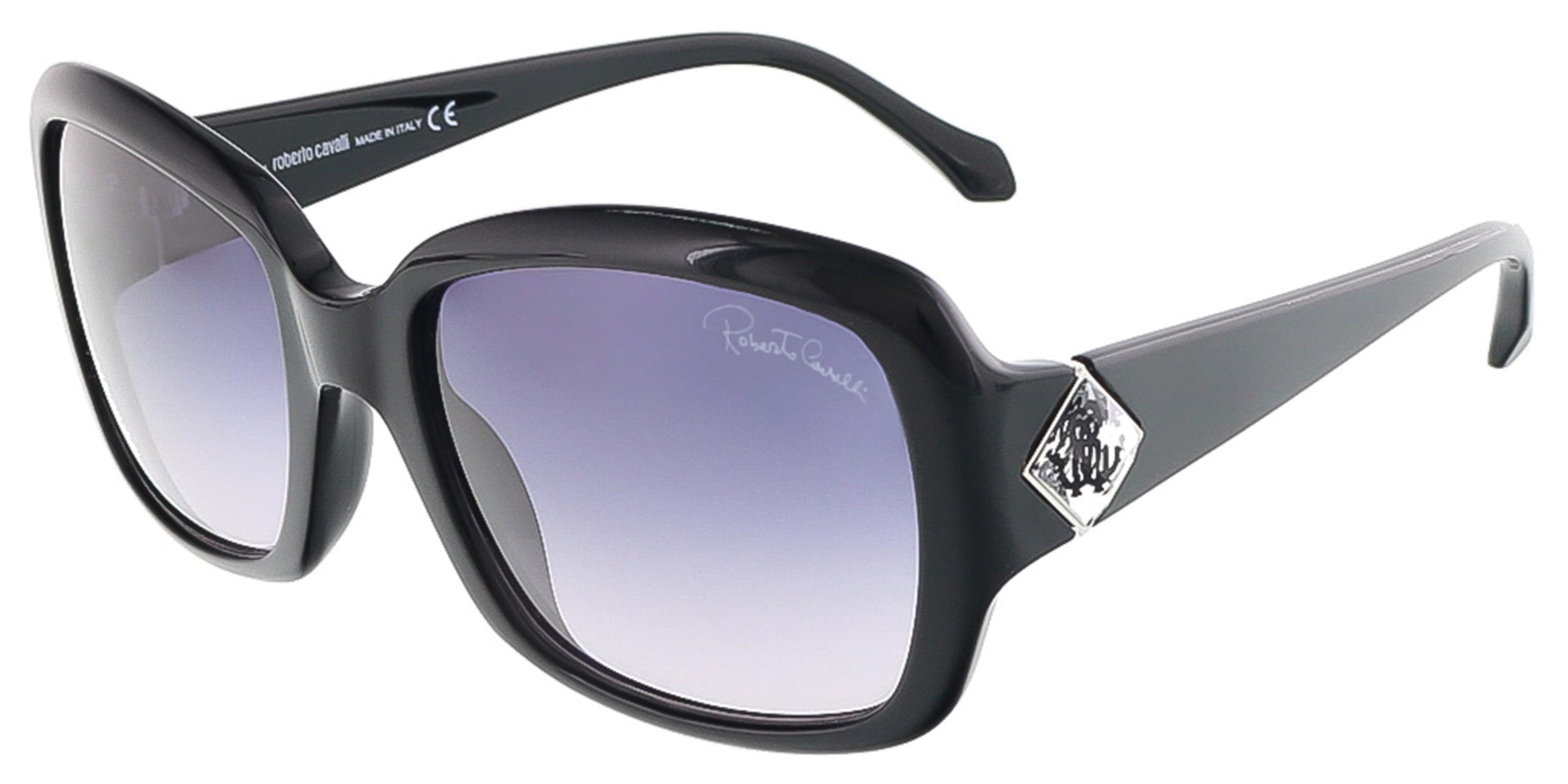 Roberto Cavalli RC881S/S 01B MAIA Shiny Black Square sunglasses