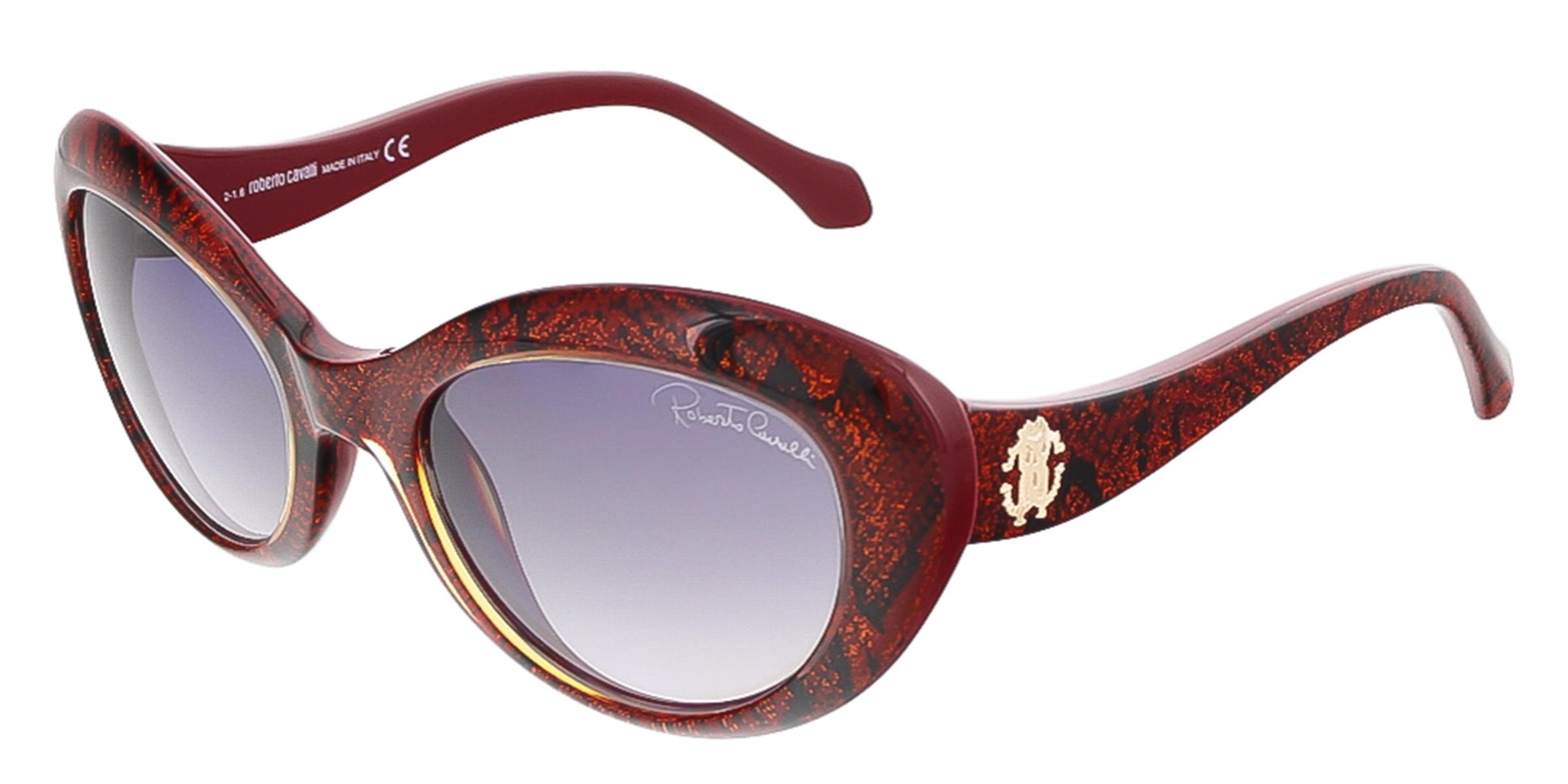 Roberto Cavalli RC826S/S 69T ALSHAT Glitter Red Cateye sunglasses