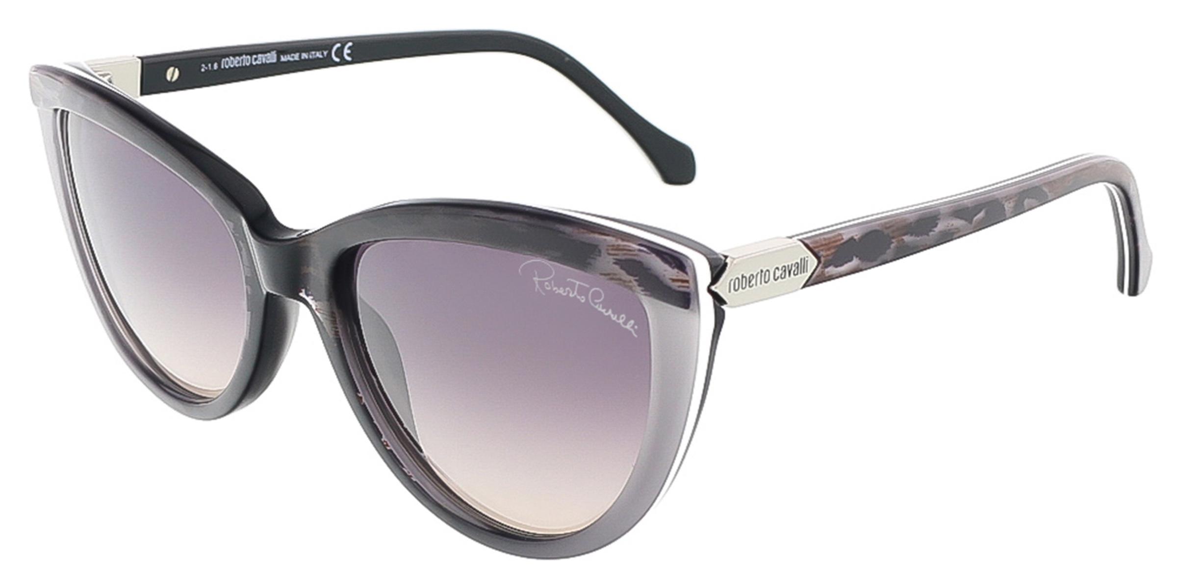 Roberto Cavalli RC787S/S 05B ACHIRD Black/Grey Cateye sunglasses