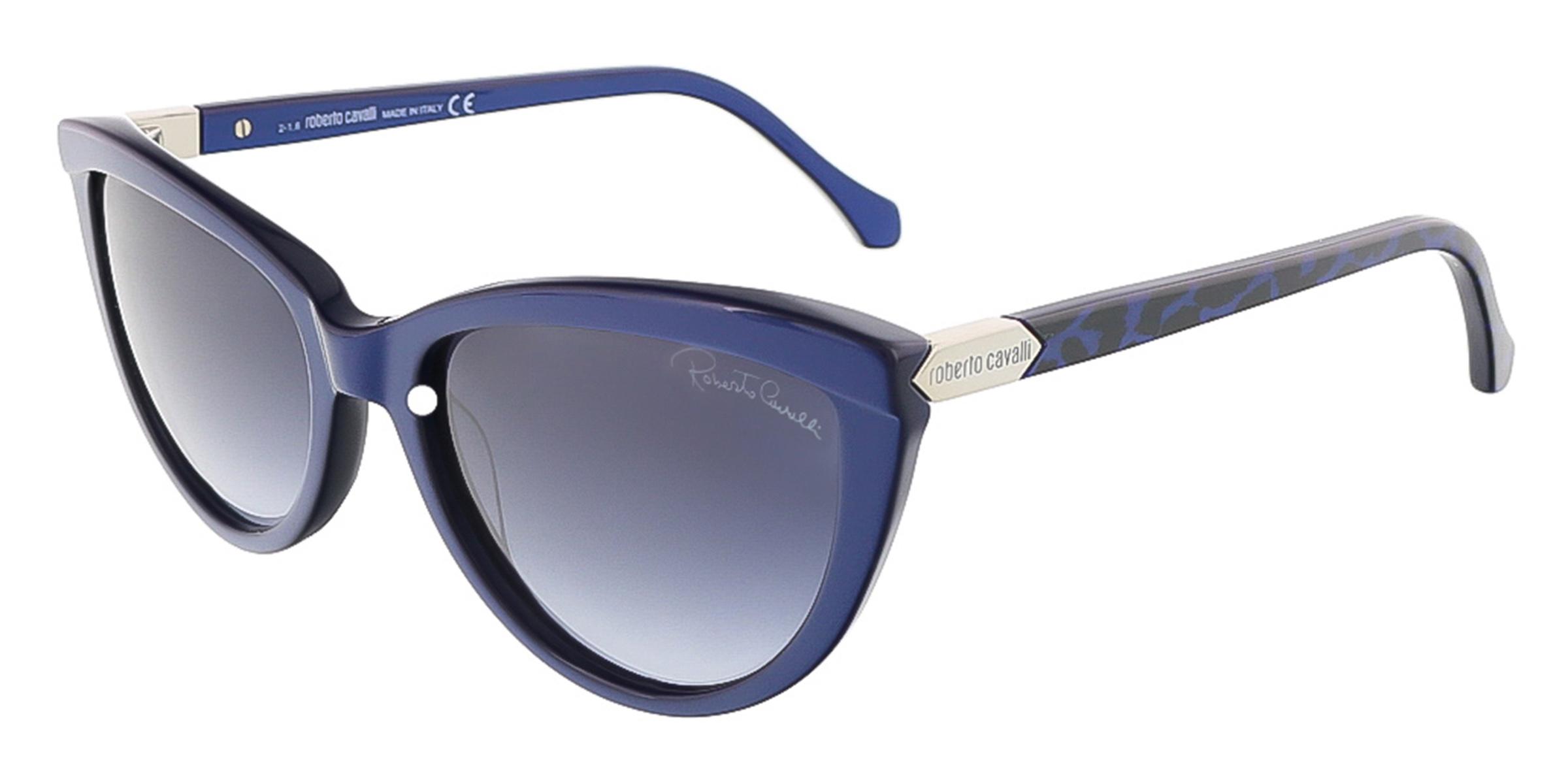 Roberto Cavalli RC787S/S 69W ACHIRD Shiny Blue Cateye sunglasses