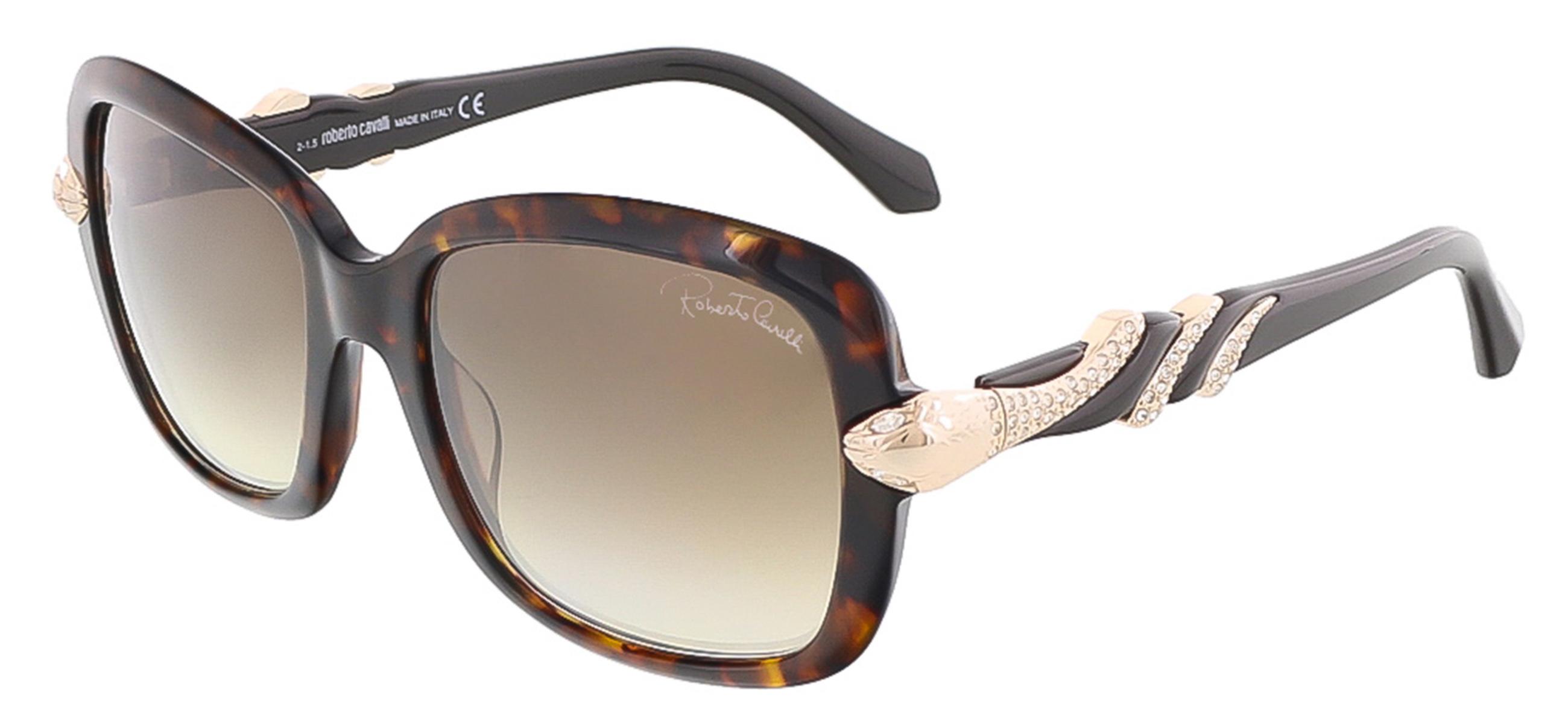 Roberto Cavalli RC879S/S 57G LESATH Havana Rectangle sunglasses