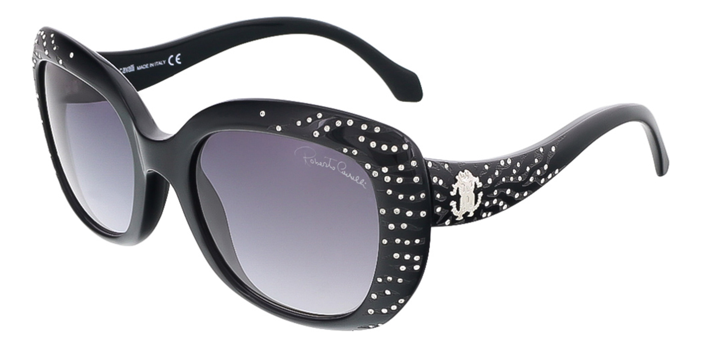 Roberto Cavalli RC827S/S 01B ALTAIR  Shiny Black Butterfly sunglasses