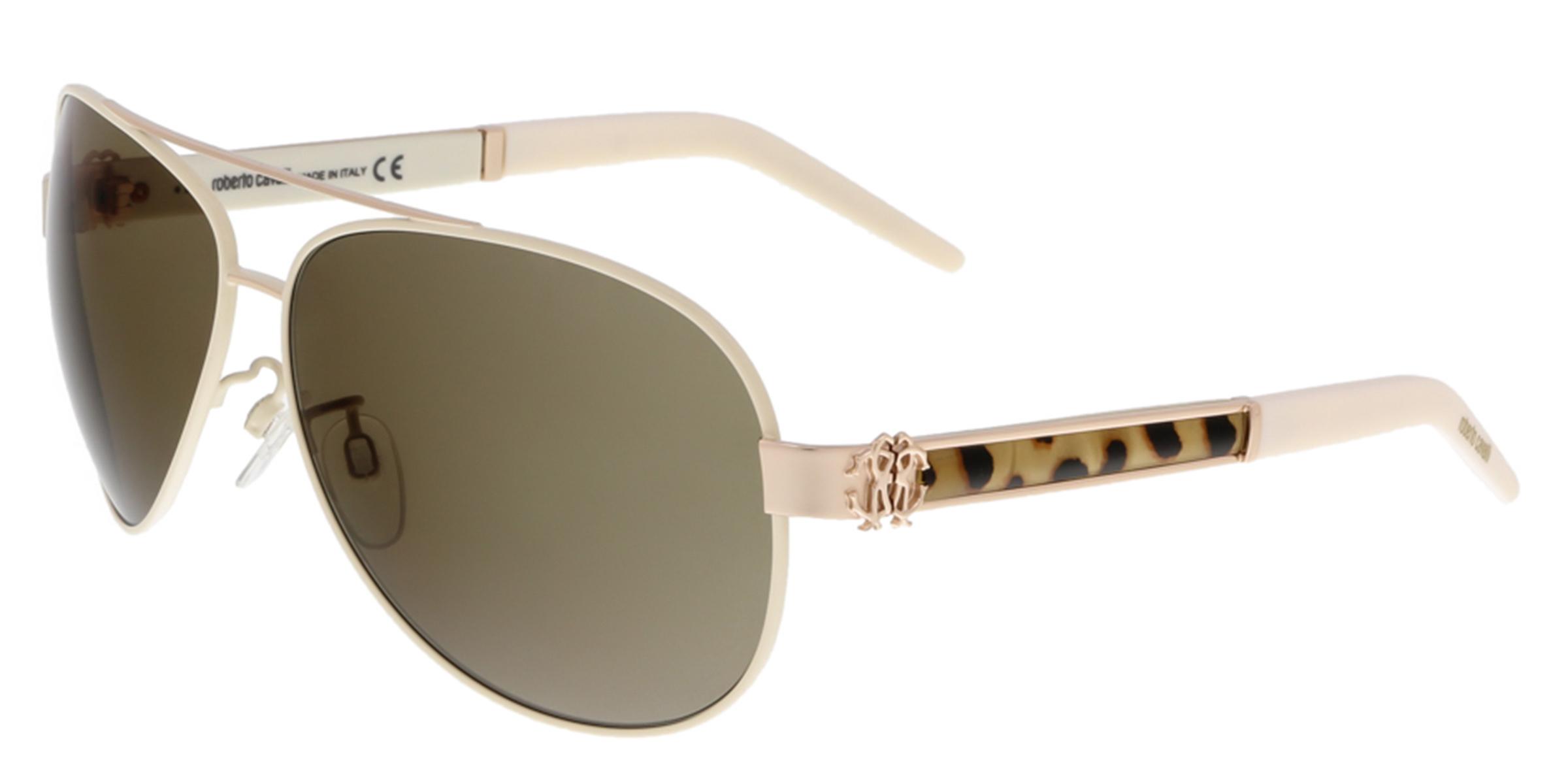 Roberto Cavalli RC892S GORGONEA 33J Gold/Ivory Aviator Sunglasses