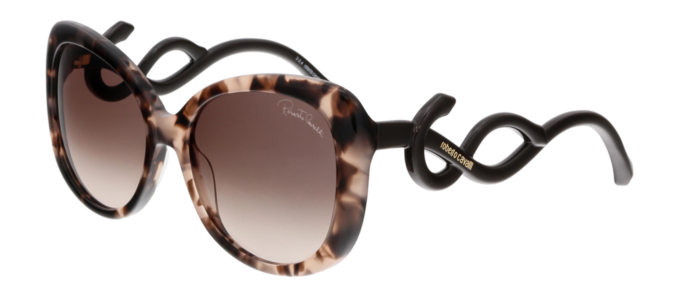 Roberto Cavalli RC911S MINTAKA 55F Havana Square Sunglasses