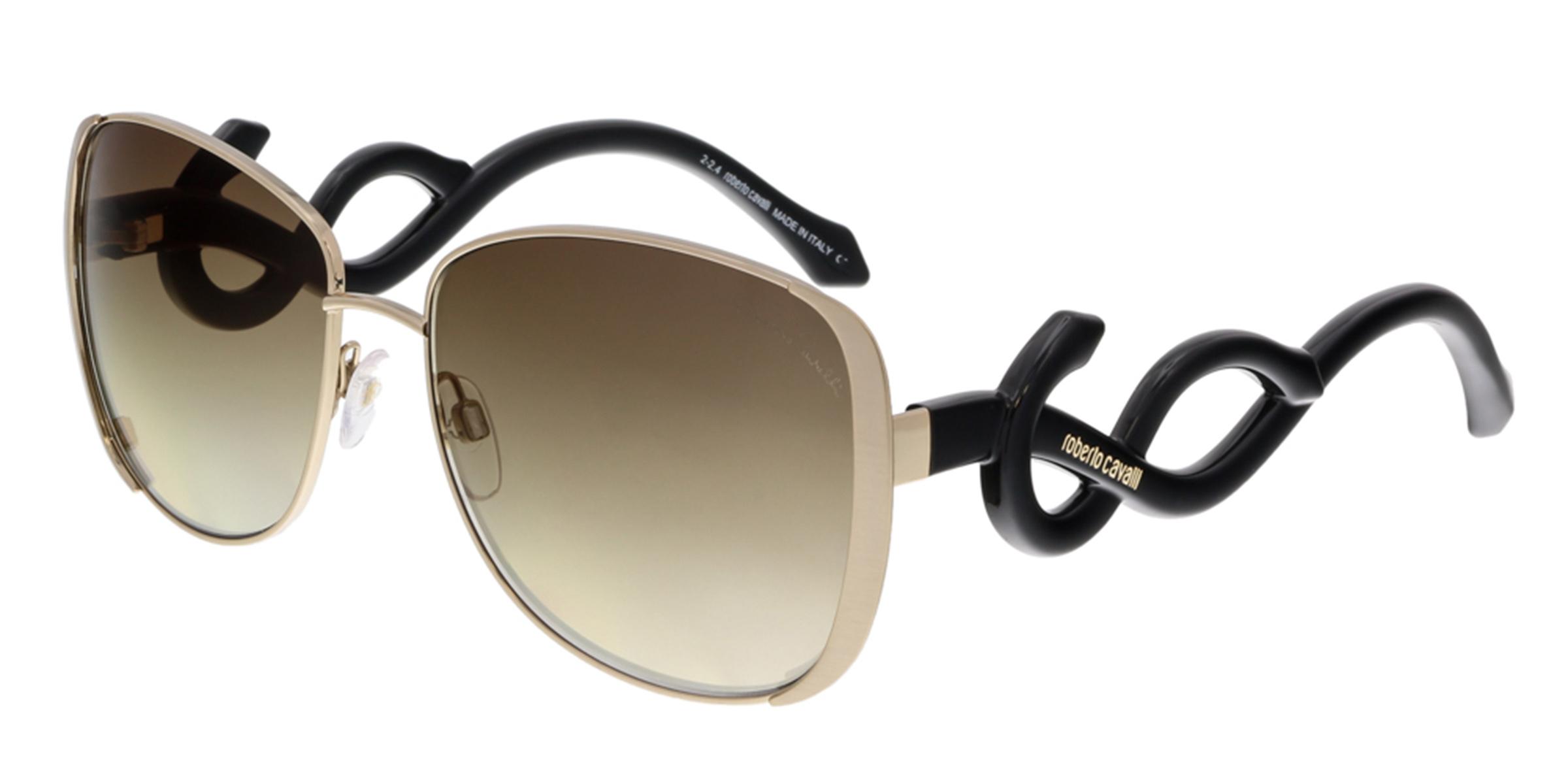 Roberto Cavalli RC910S MINKAR 28C Gold Square Sunglasses