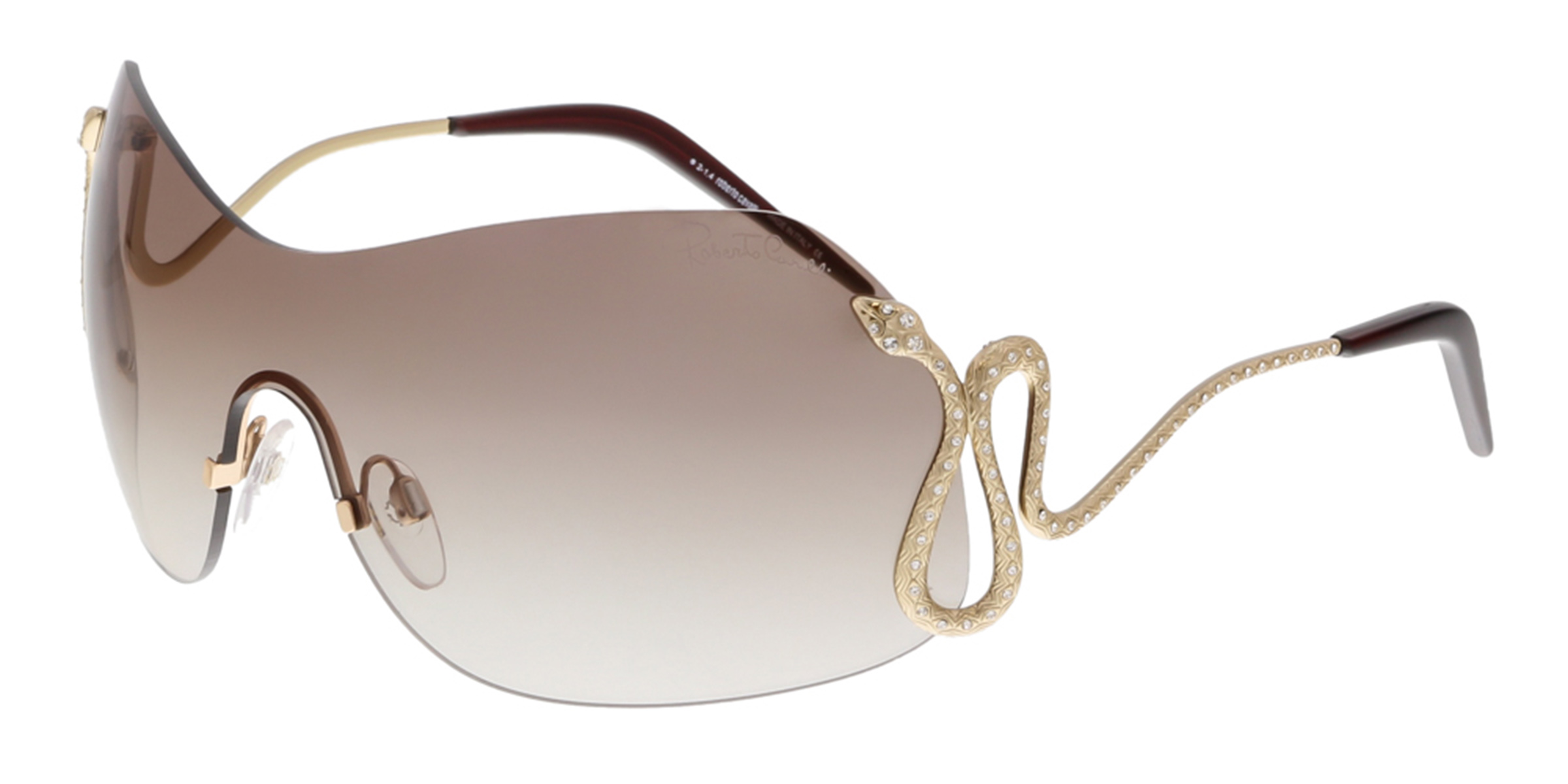 Roberto Cavalli RC896S HASSALEH 772 Rose Gold Shield Sunglasses