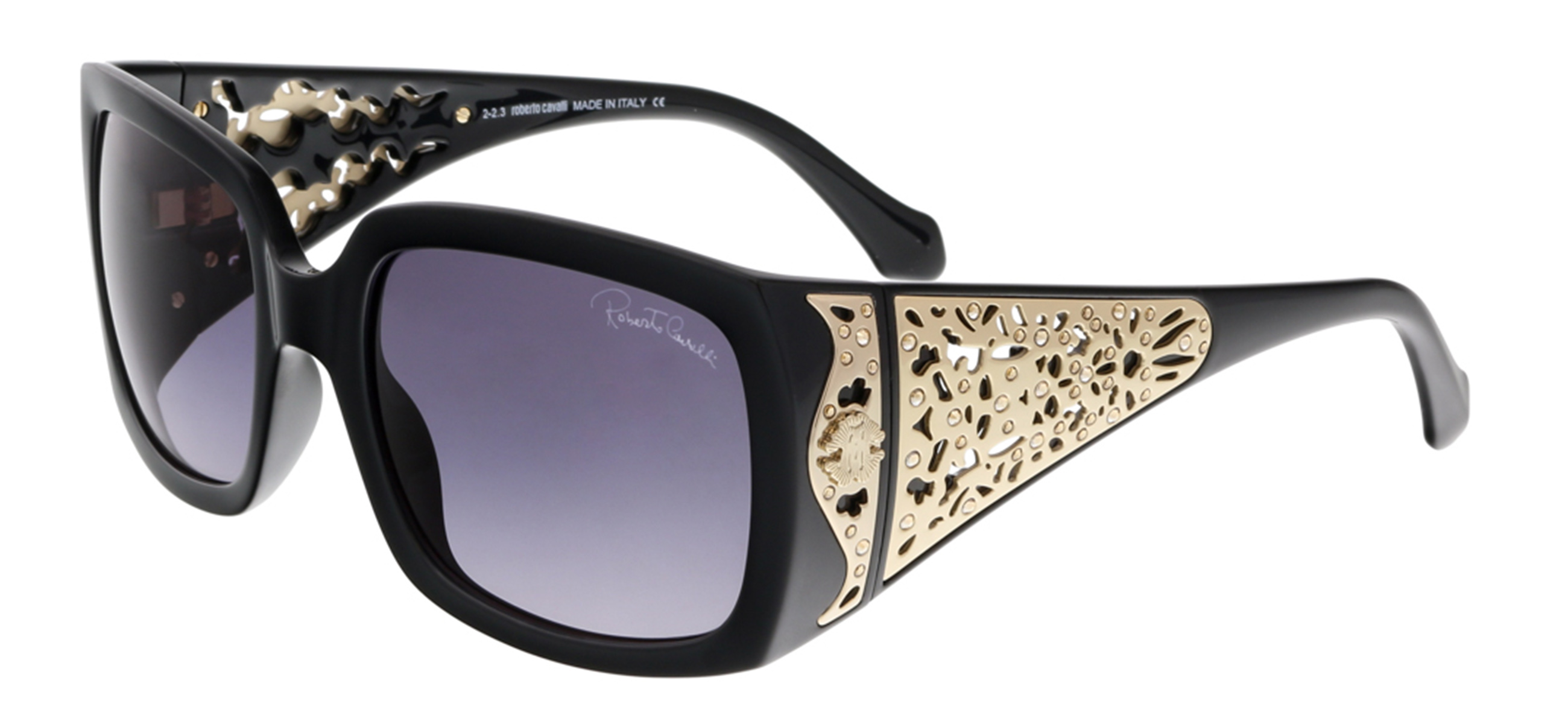Roberto Cavalli RC804S ALDEBARAN 01B Black Rectangle Sunglasses