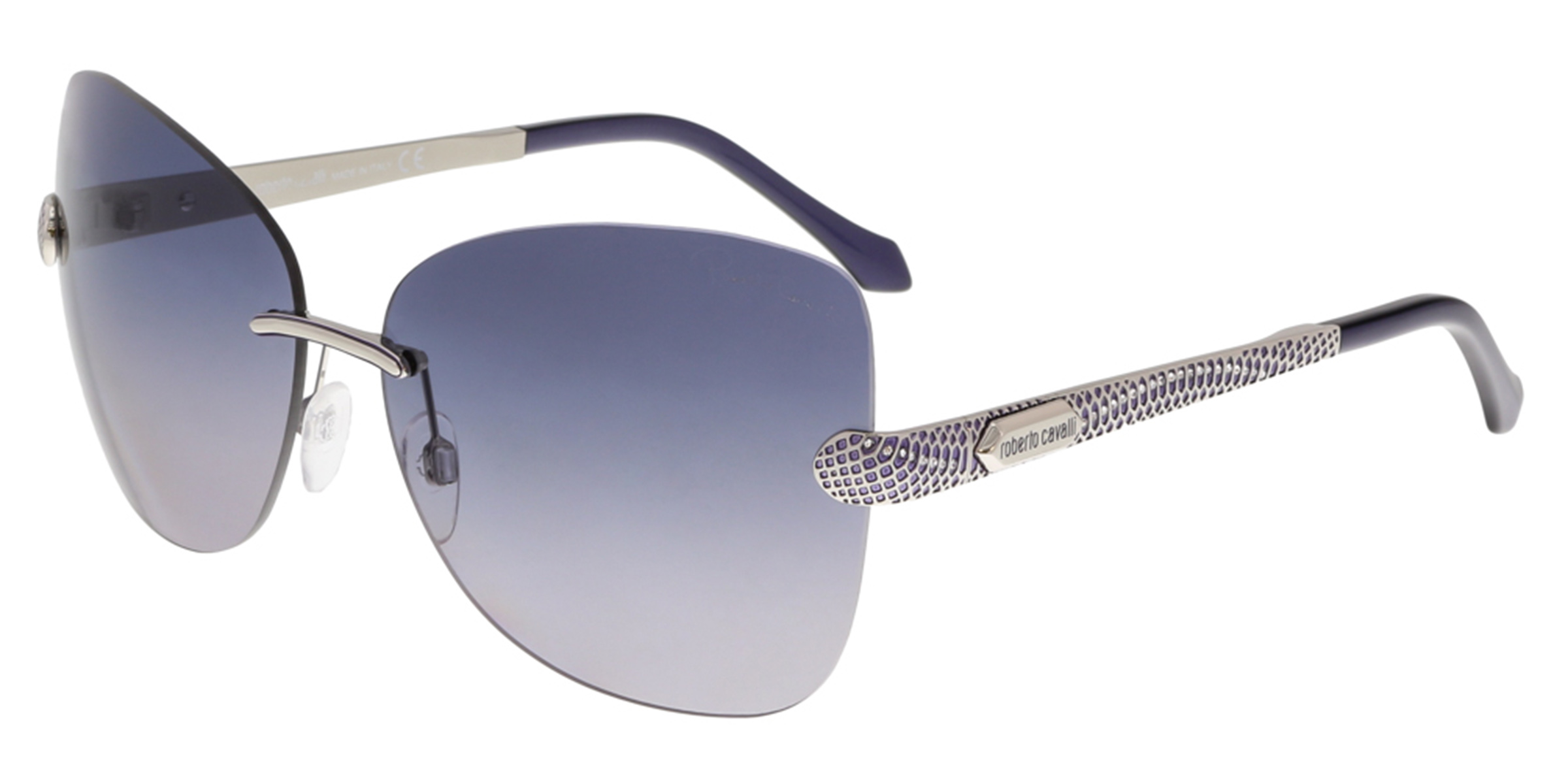Roberto Cavalli RC831S ALZIRR 16B Silver Butterfly Sunglasses
