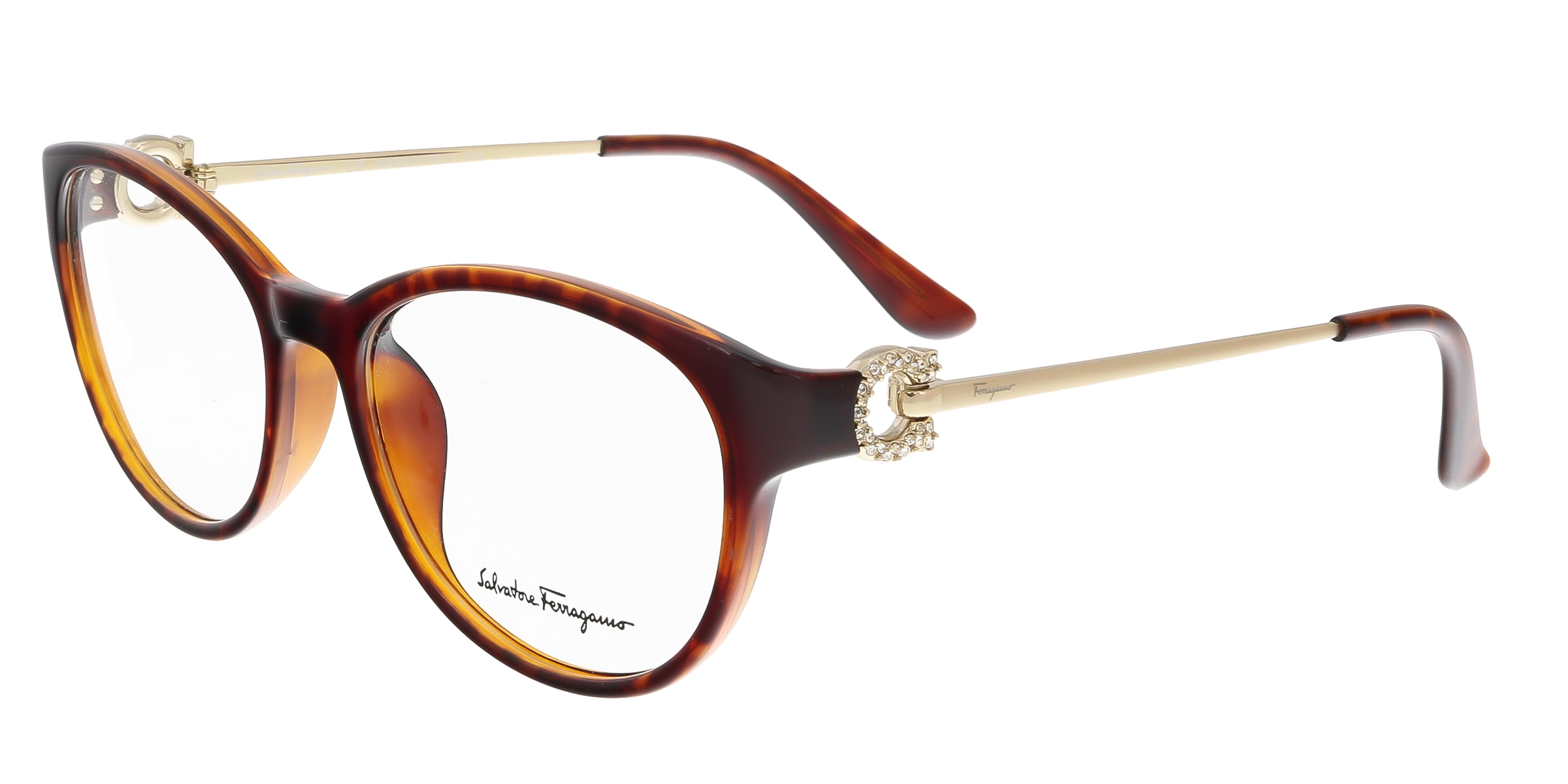 Salvatore Ferragamo SF2704/R 214 Tortoise Cateye Optical Frames