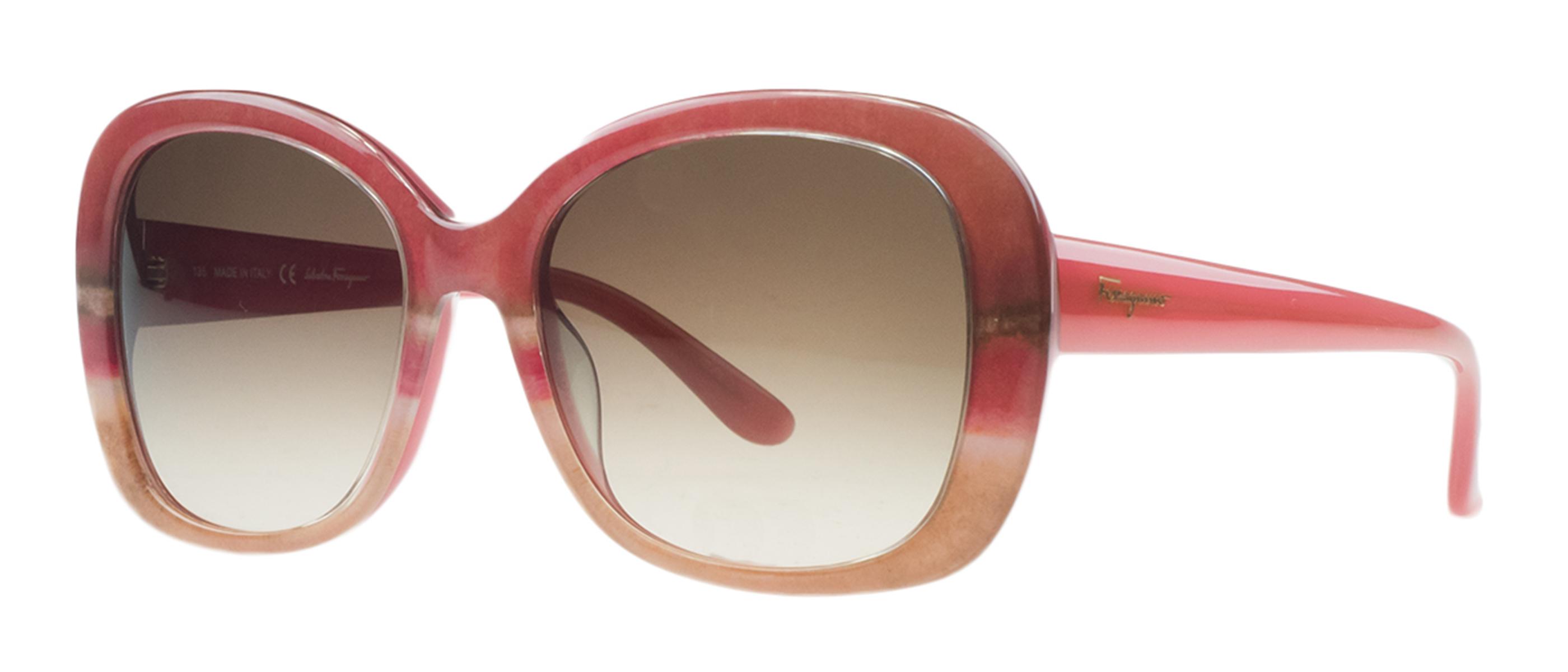 Salvatore Ferragamo SF678/S 529 Rose/Beige Square Sunglasses