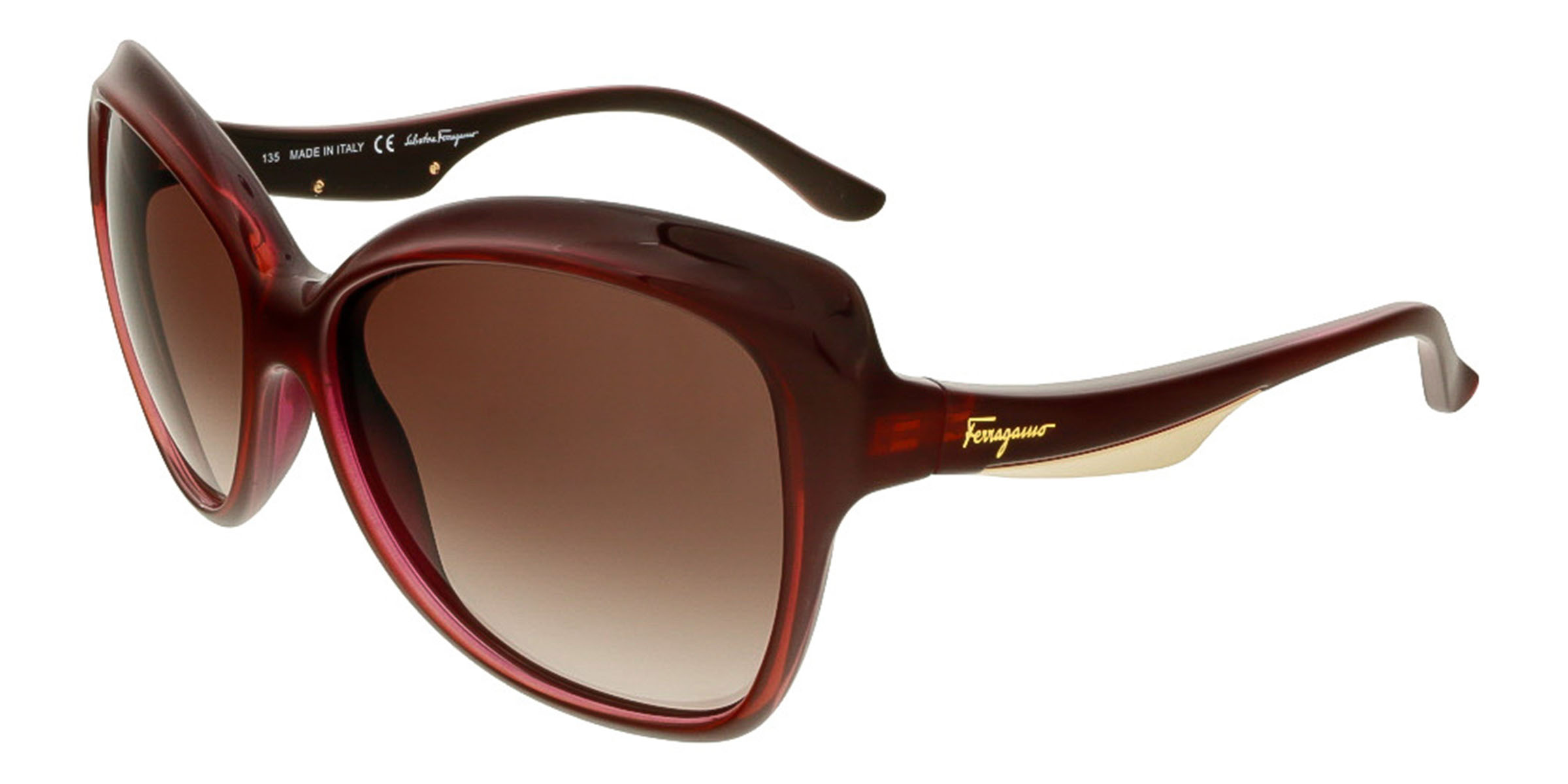 Salvatore Ferragamo SF706S 505 Plum Square Sunglasses