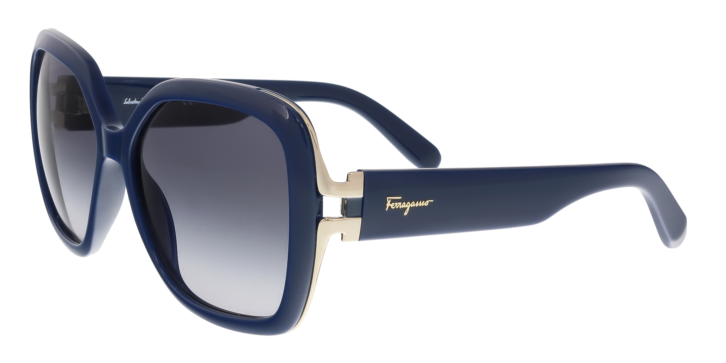 Salvatore Ferragamo SF781/S 414 Blue Square Feline Sunglasses