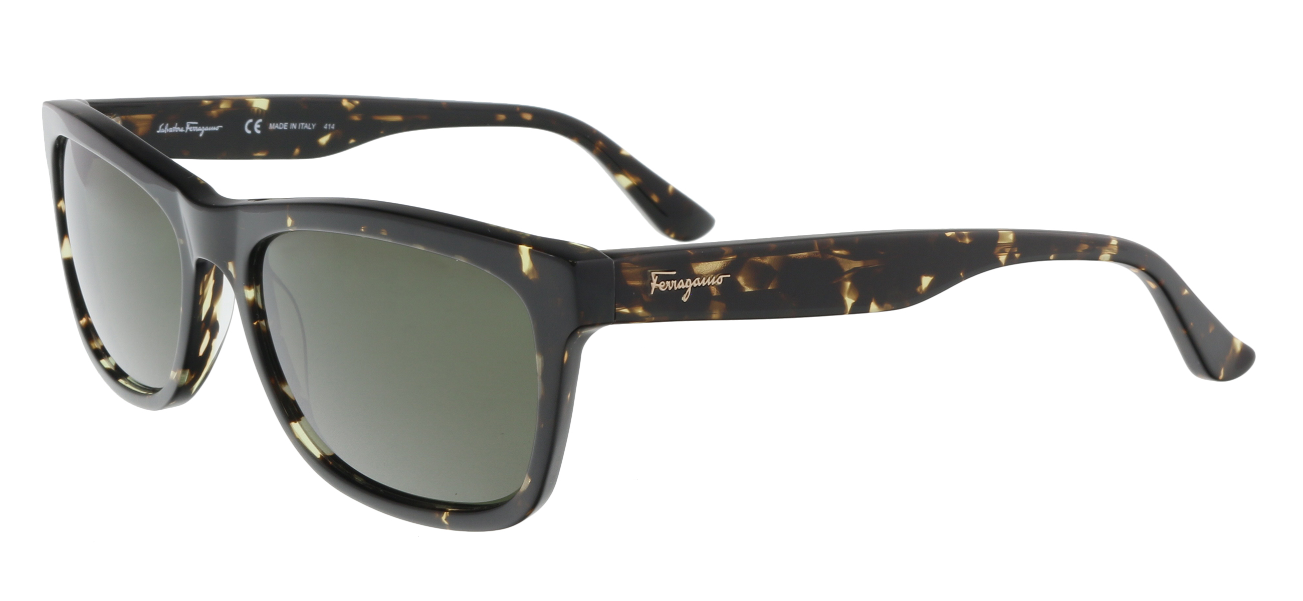 Salvatore Ferragamo SF775/S 281 Havana Rectangle Feline Sunglasses