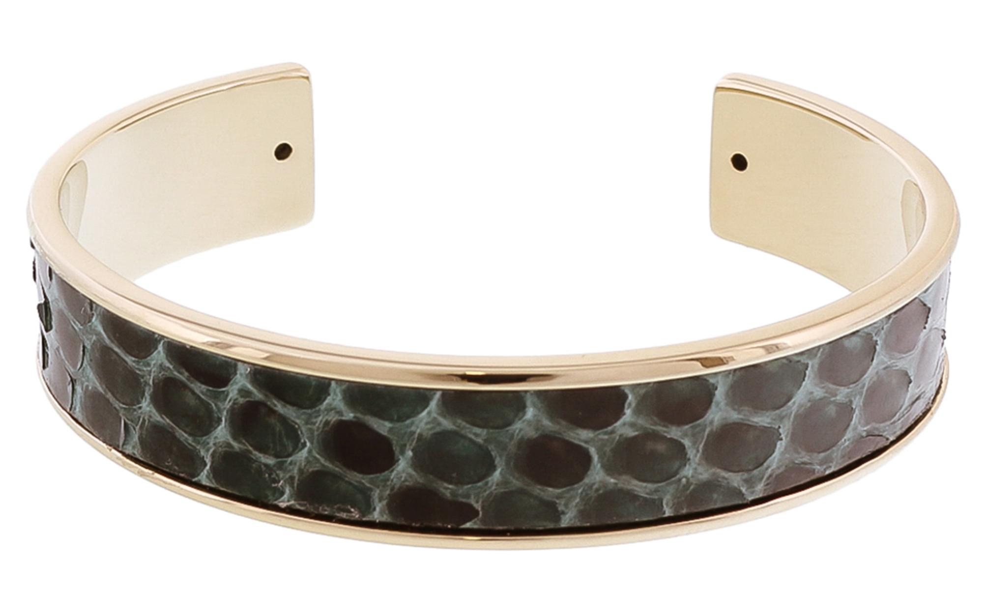 Stamerra MEMAN PITTONE VR Green Genuine Python Bracelet