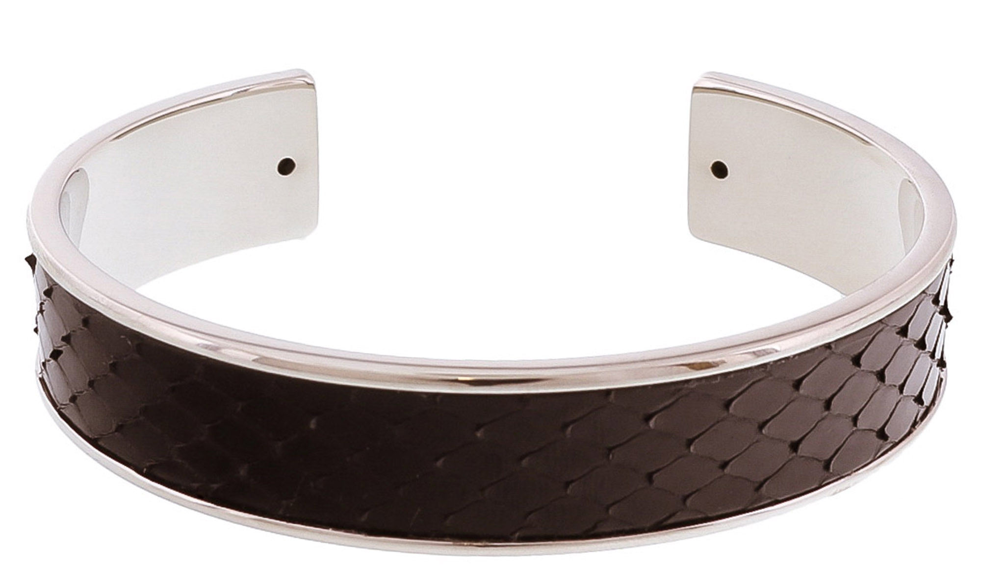 Stamerra MEMAN PITTONE ANR Black/Silver Genuine Python Bracelet