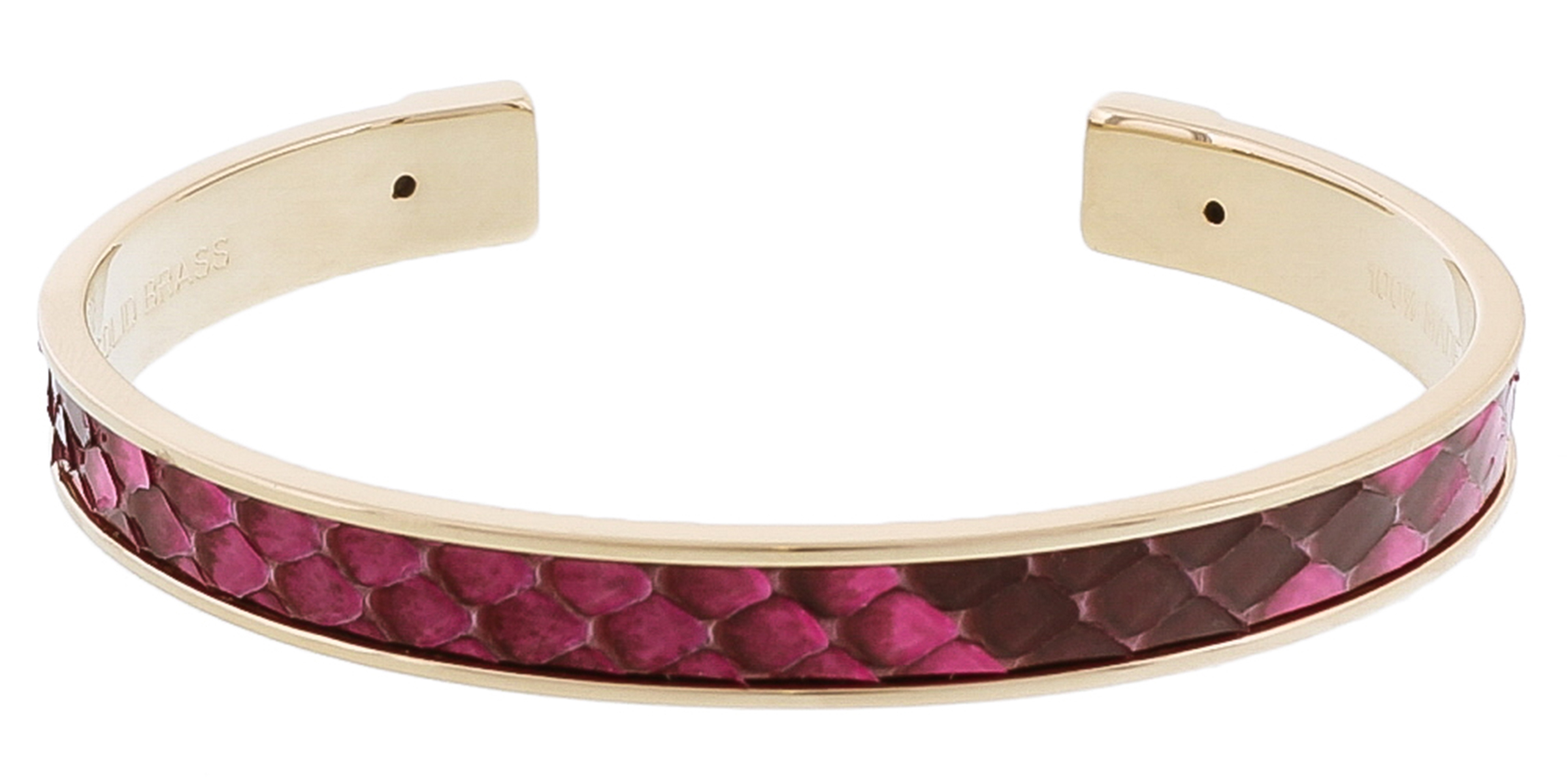 Stamerra PICCOLO PITTONE FU Fuschia Genuine Python Bracelet