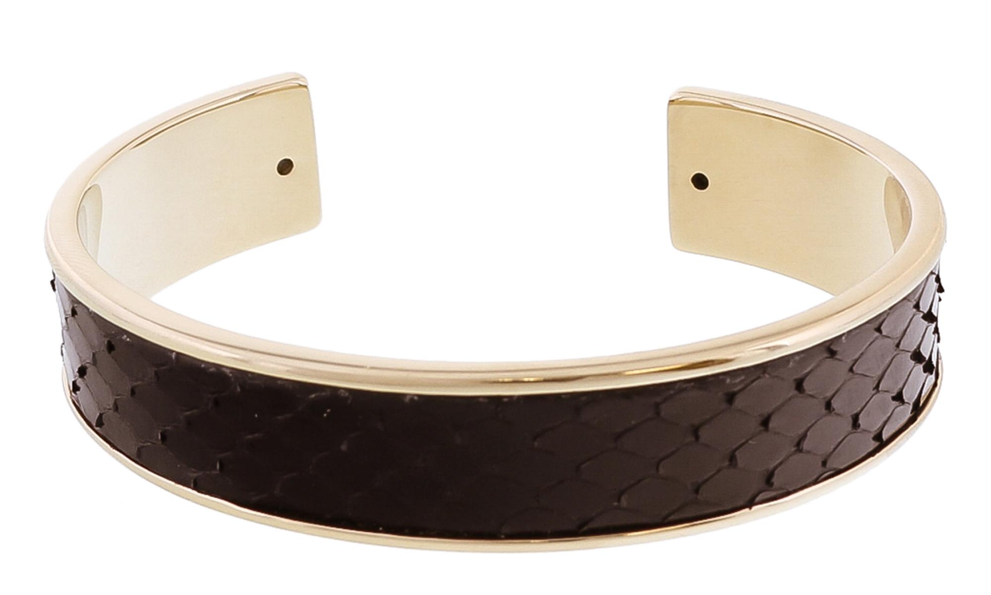 Stamerra MEMAN PITTONE NR Black Genuine Python Bracelet