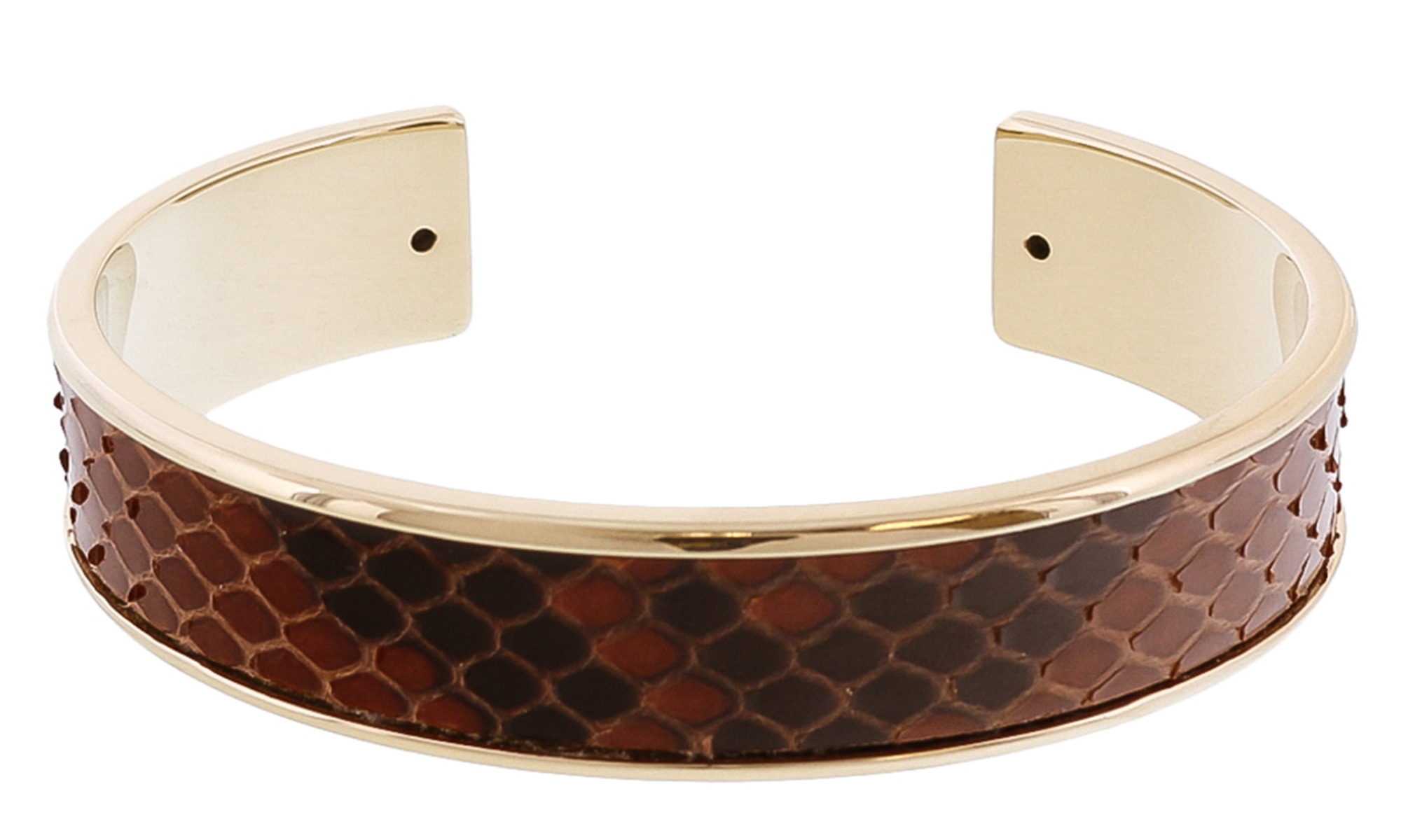 Stamerra MEMAN PITTONE MR Brown Genuine Python Bracelet