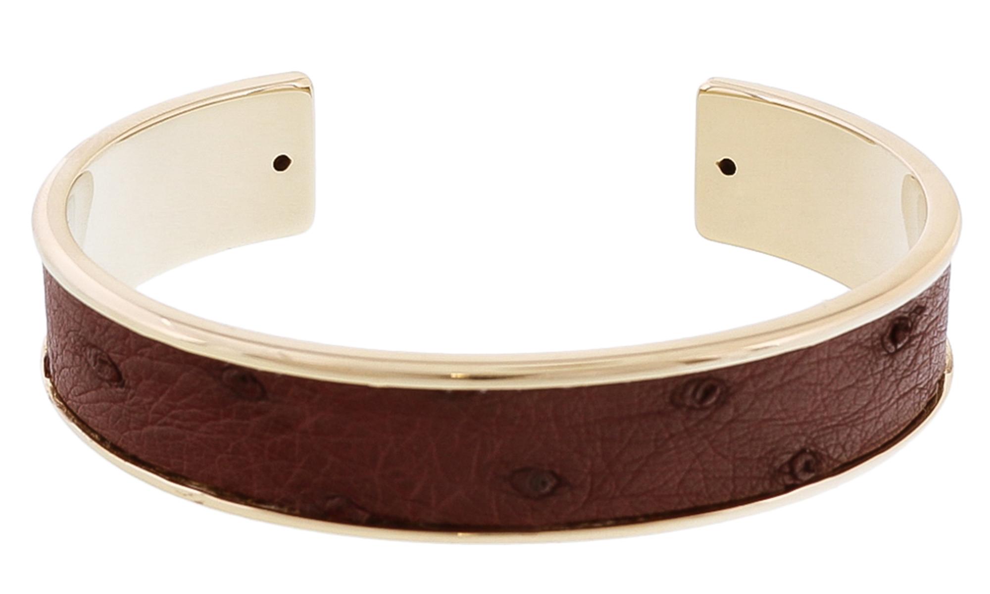 Stamerra MEMAN STRUZZO VR Brown Genuine Ostrich Bracelet