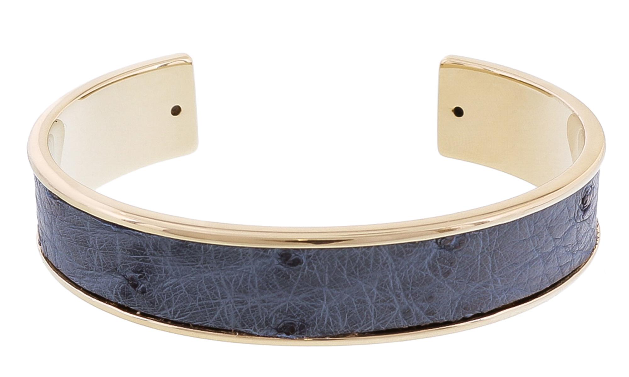 Stamerra MEMAN STRUZZO AZ Denim Genuine Ostrich Bracelet