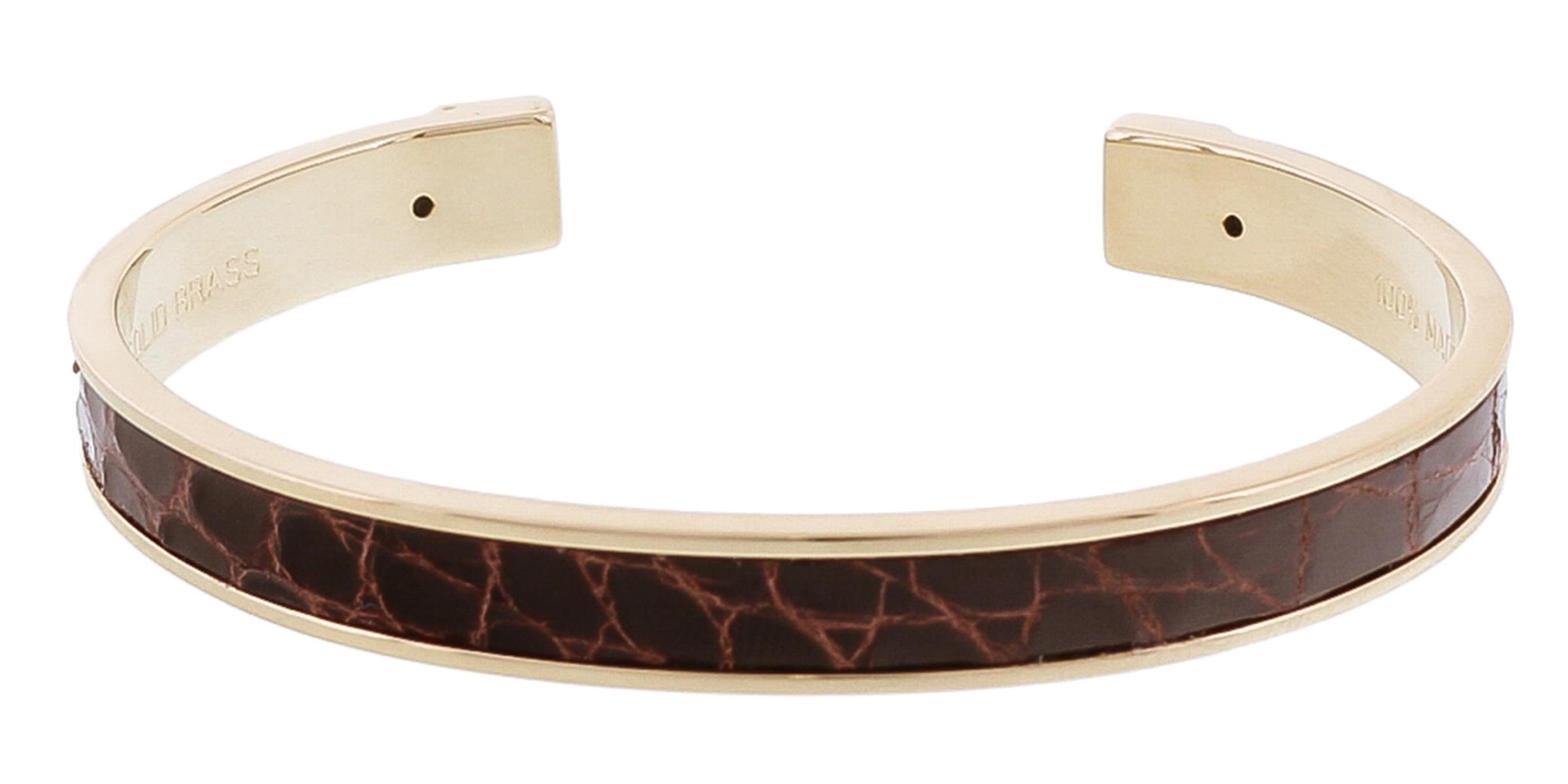 Stamerra PICCOLO CROCCO MR Dark Brown Genuine Crocodile Bracelet